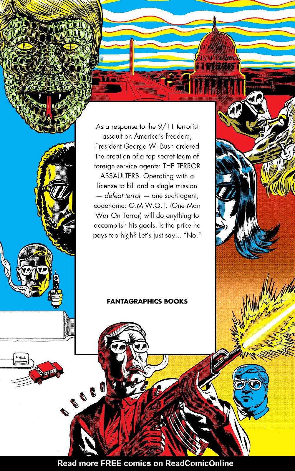 Read online Terror Assaulter: O.M.W.O.T (One Man War On Terror) comic -  Issue # TPB - 2