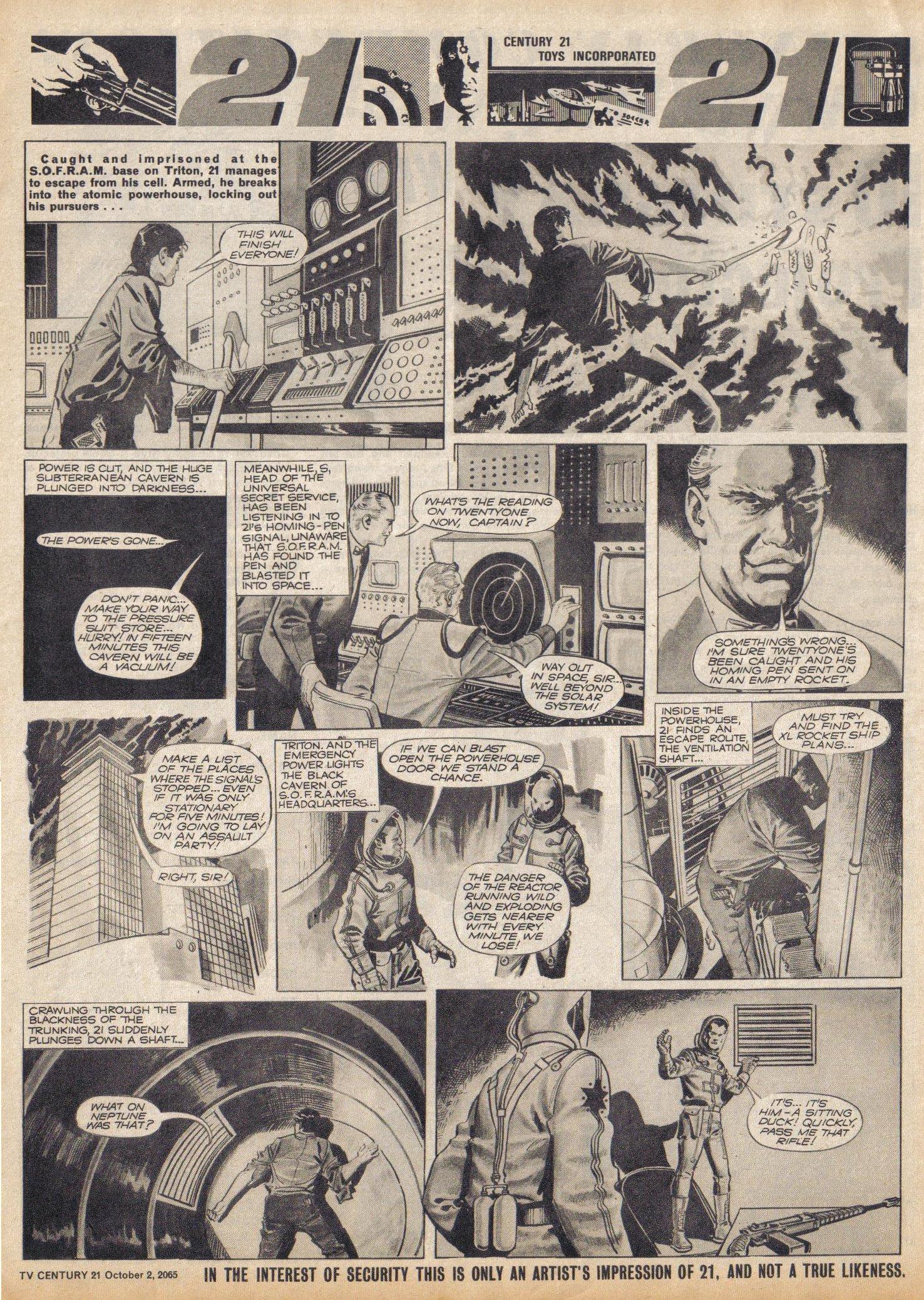Read online TV Century 21 (TV 21) comic -  Issue #37 - 7