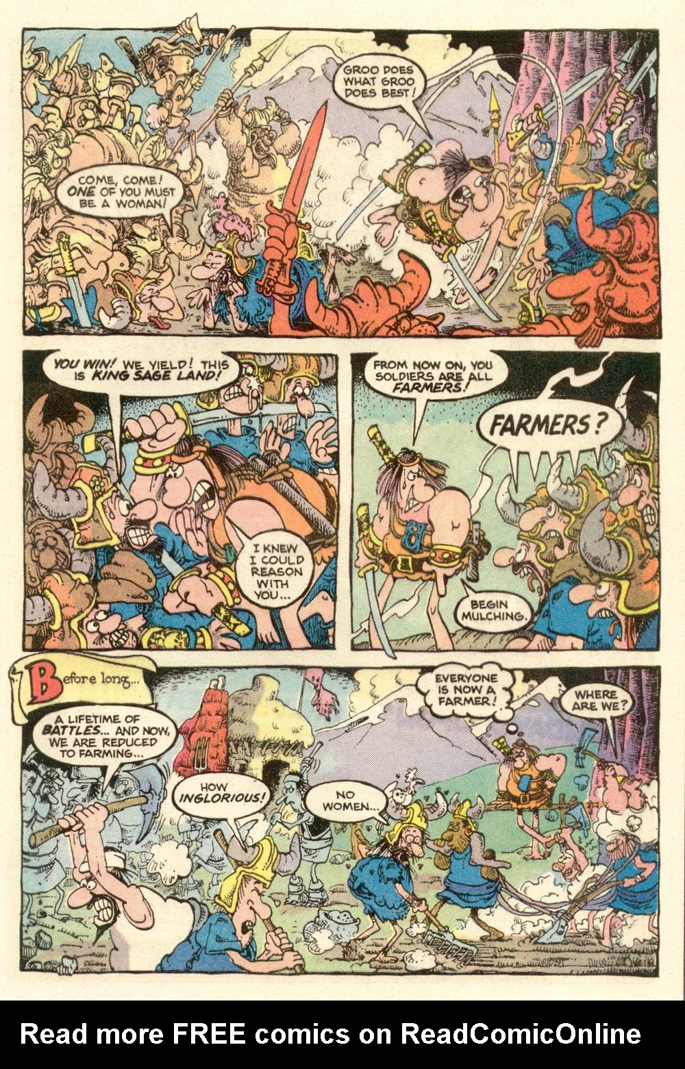 Read online Sergio Aragonés Groo the Wanderer comic -  Issue #13 - 21