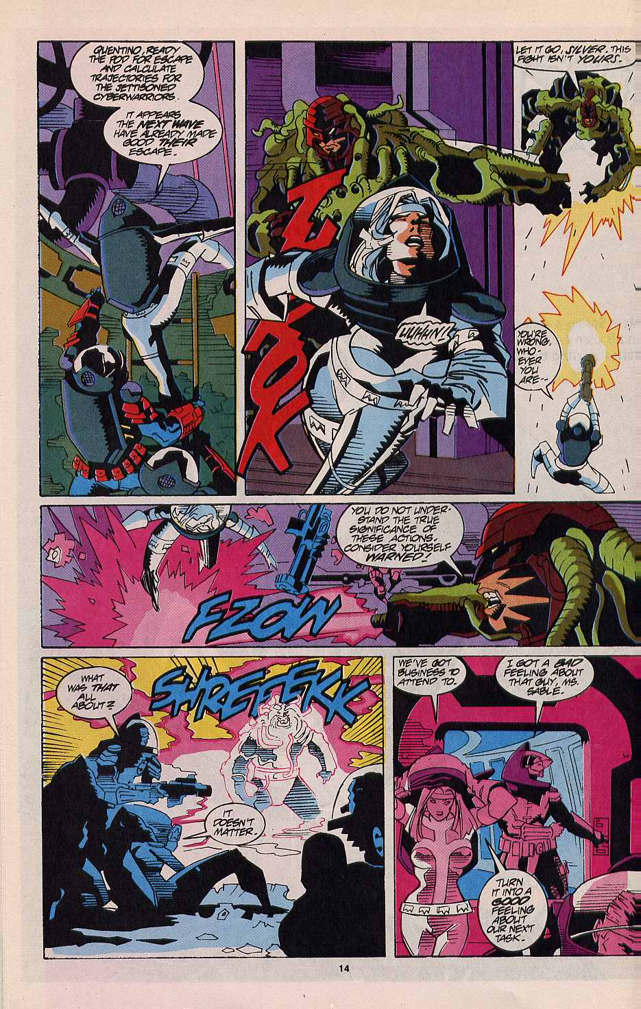 Read online Silver Sable and the Wild Pack comic -  Issue #12 - 12