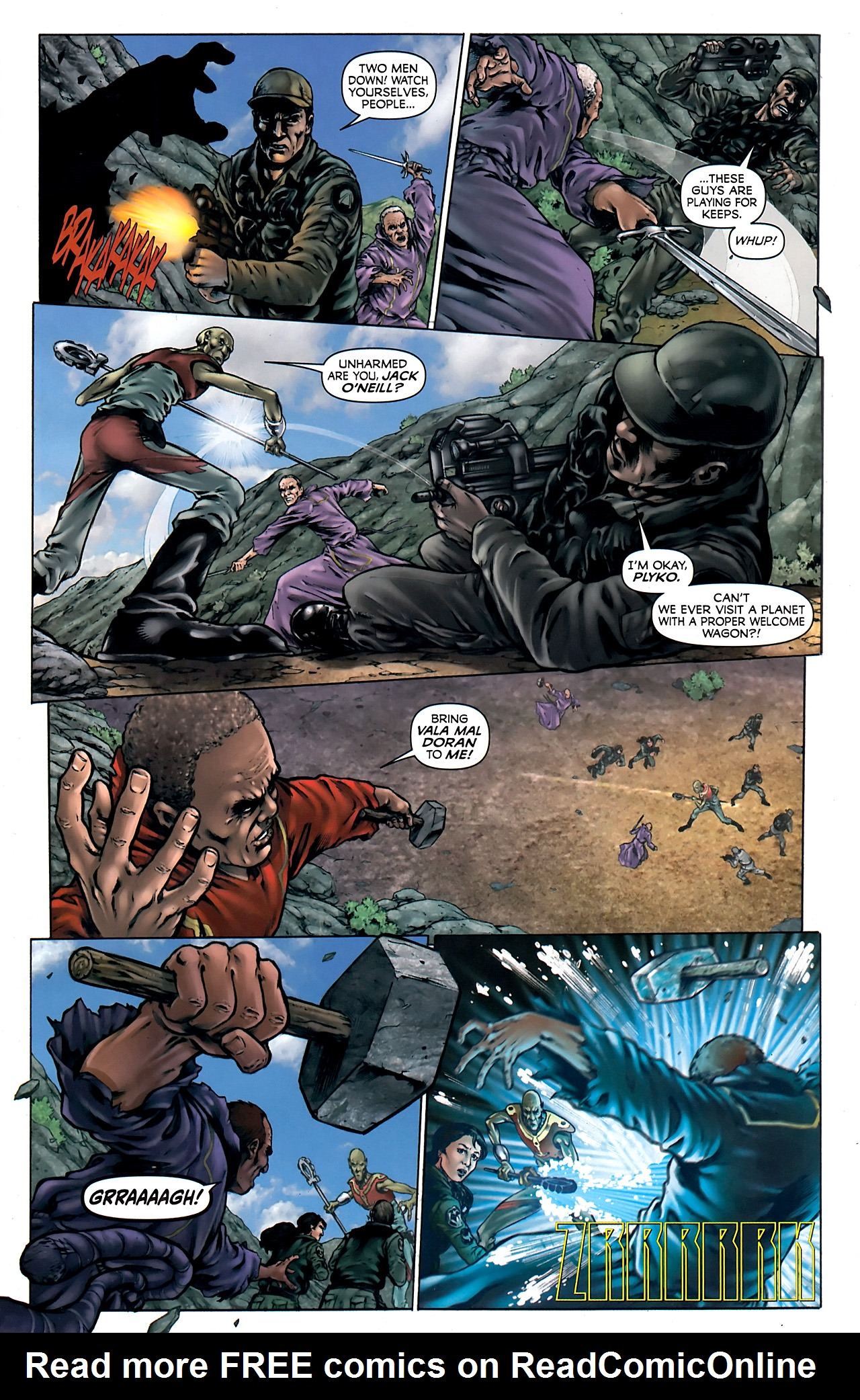Read online Stargate Vala Mal Doran comic -  Issue #4 - 6
