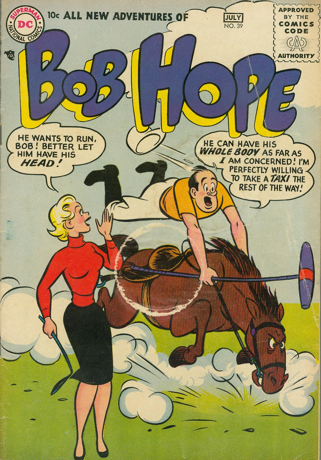 The Adventures of Bob Hope issue 39 - Page 1