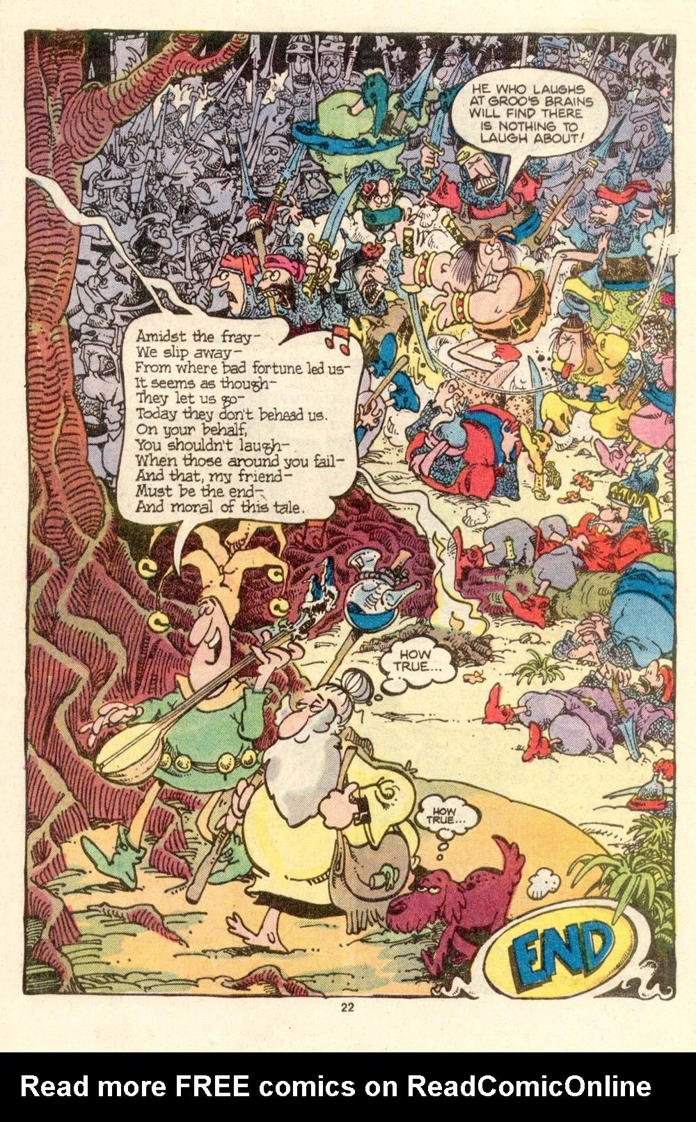 Read online Sergio Aragonés Groo the Wanderer comic -  Issue #27 - 22