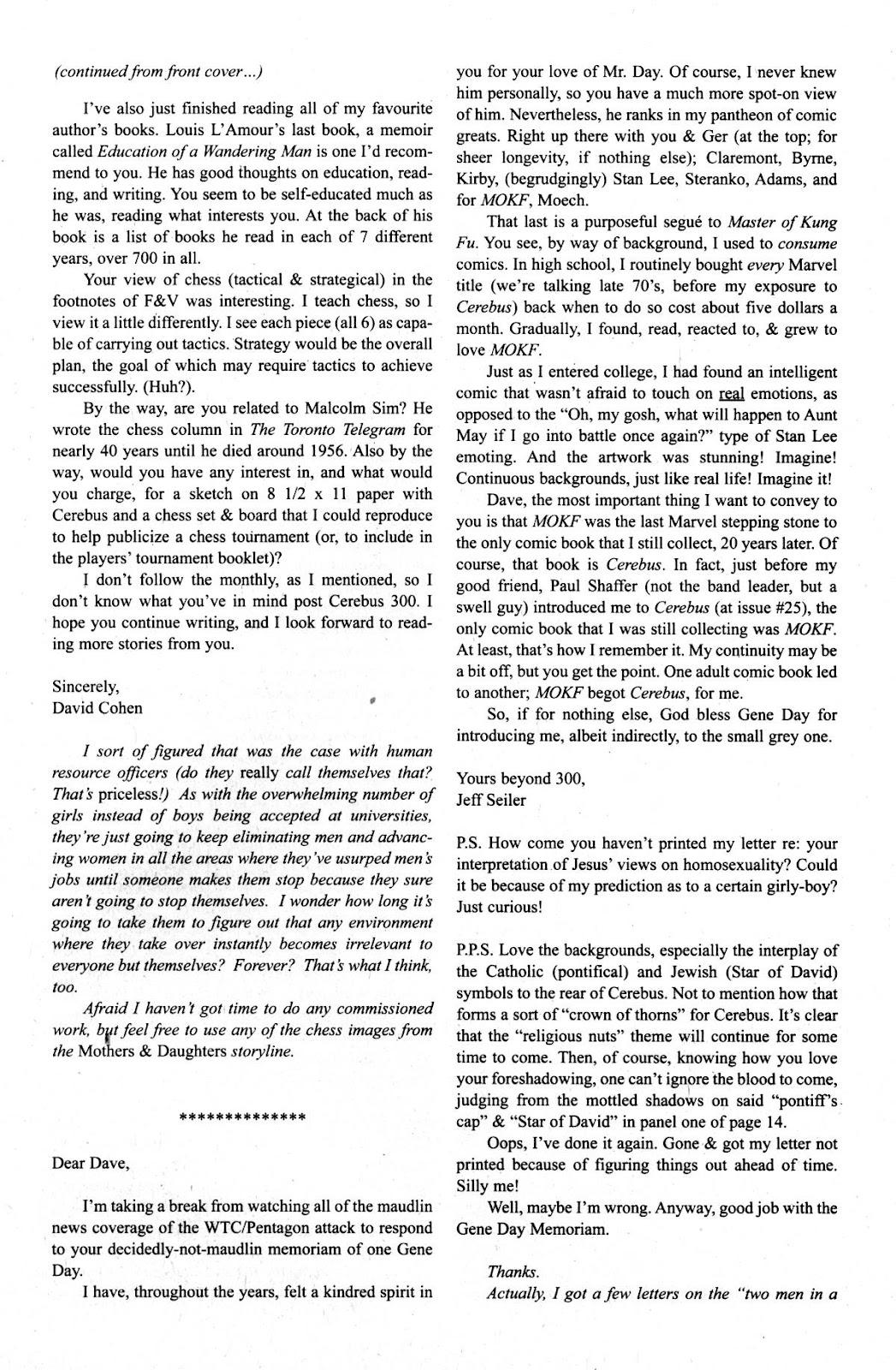 Cerebus Issue #275 #274 - English 23