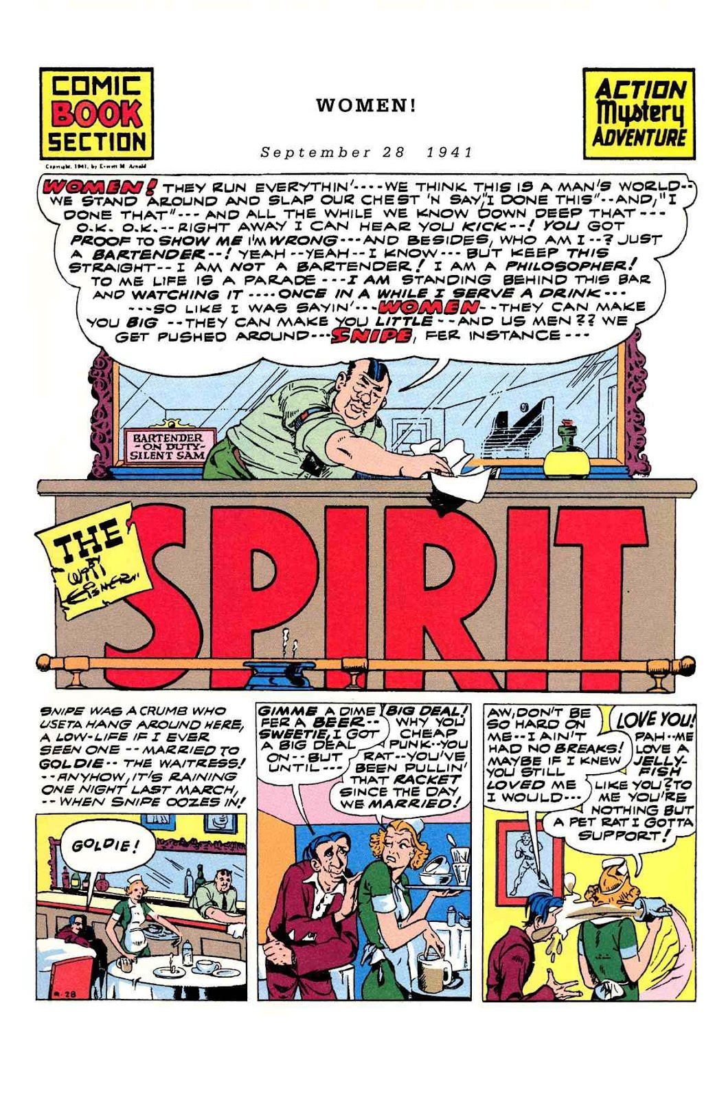 Read online Will Eisner's The Spirit Archives comic -  Issue # TPB 3 (Part 1) - 98