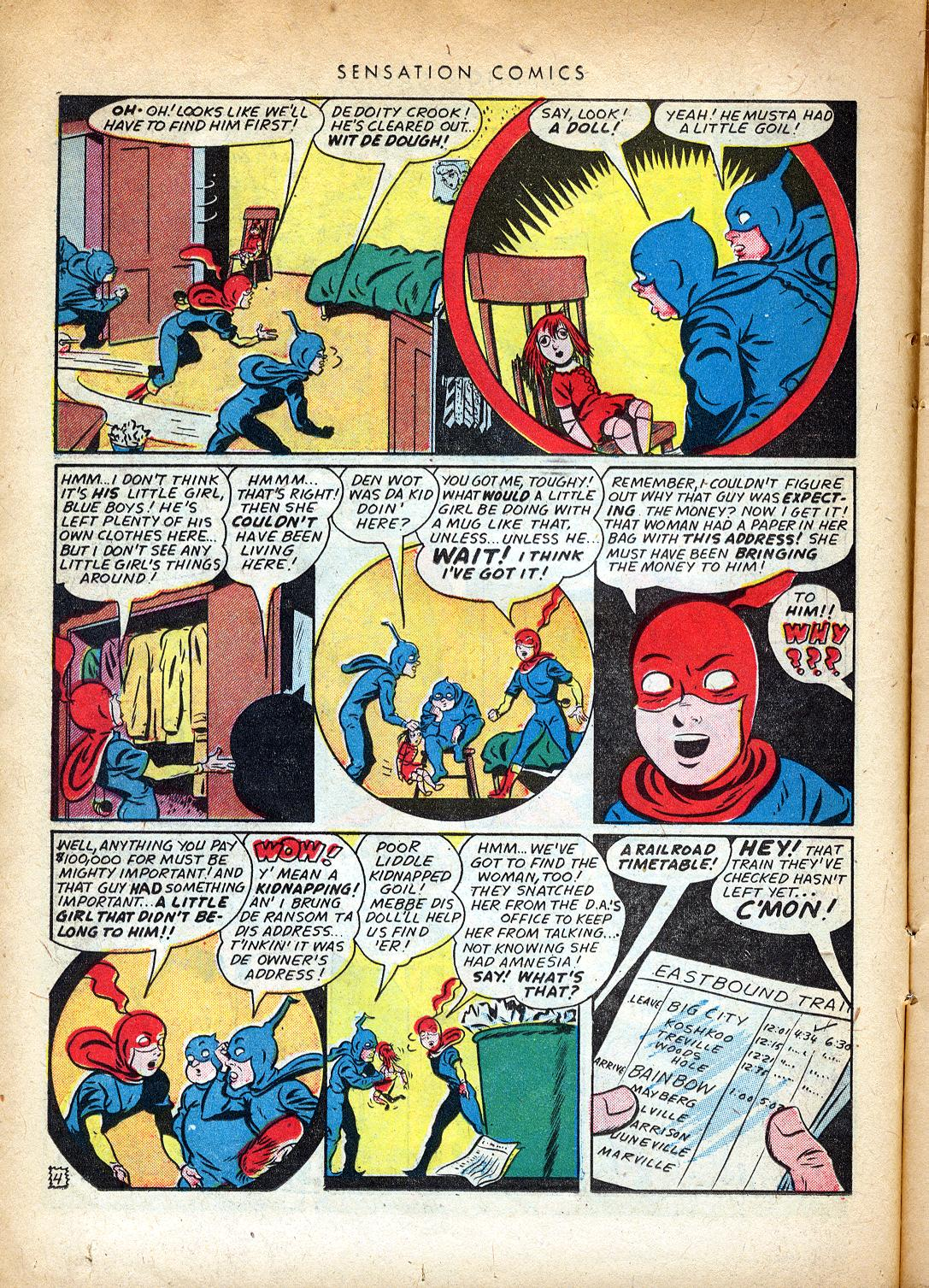 Read online Sensation (Mystery) Comics comic -  Issue #37 - 20