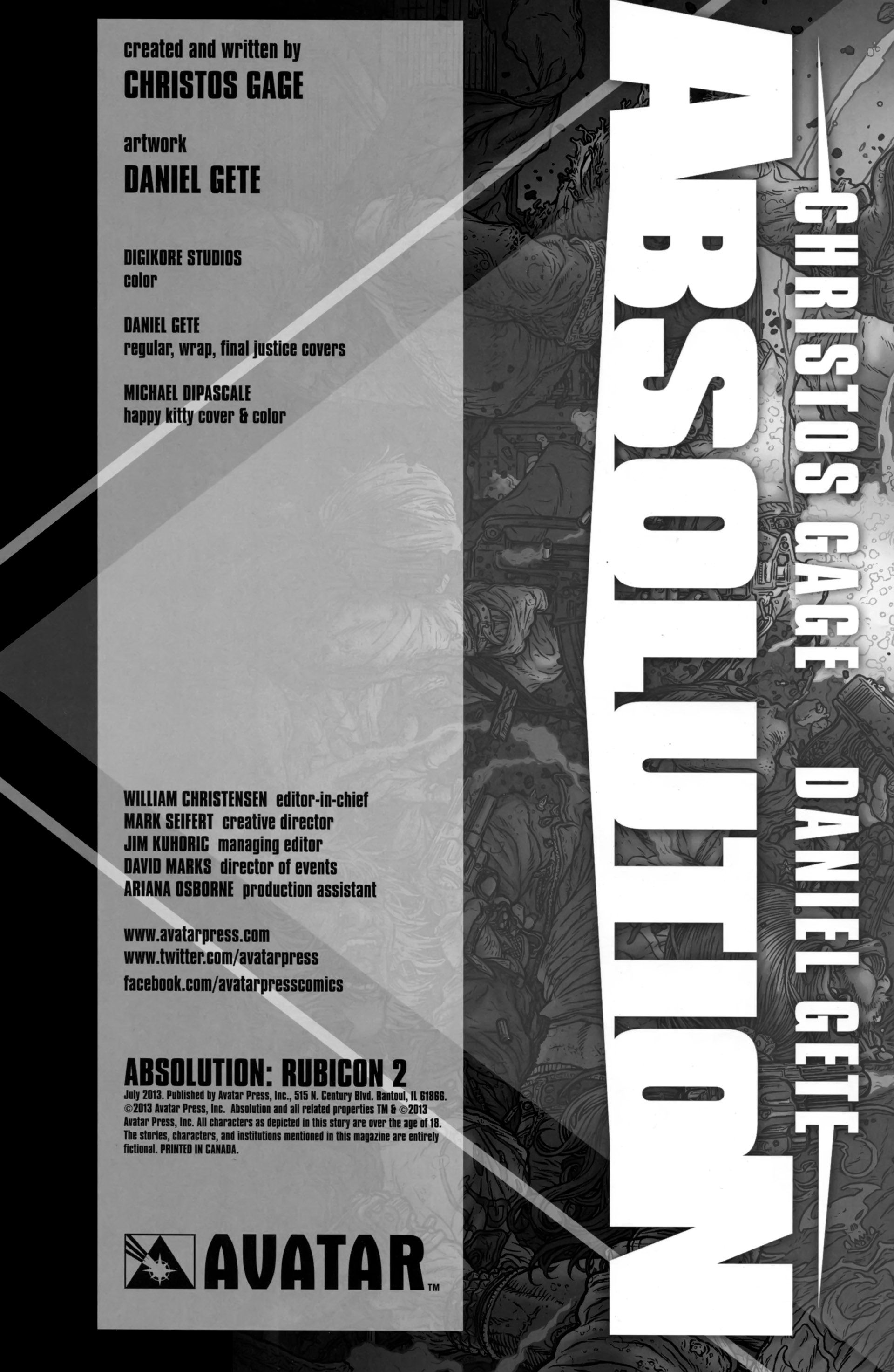 Read online Absolution: Rubicon comic -  Issue #2 - 2