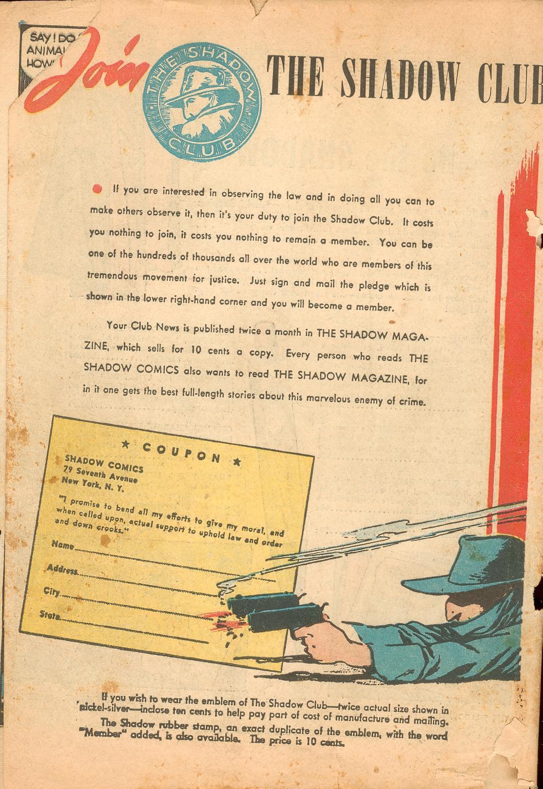 Read online Shadow Comics comic -  Issue #11 - 66