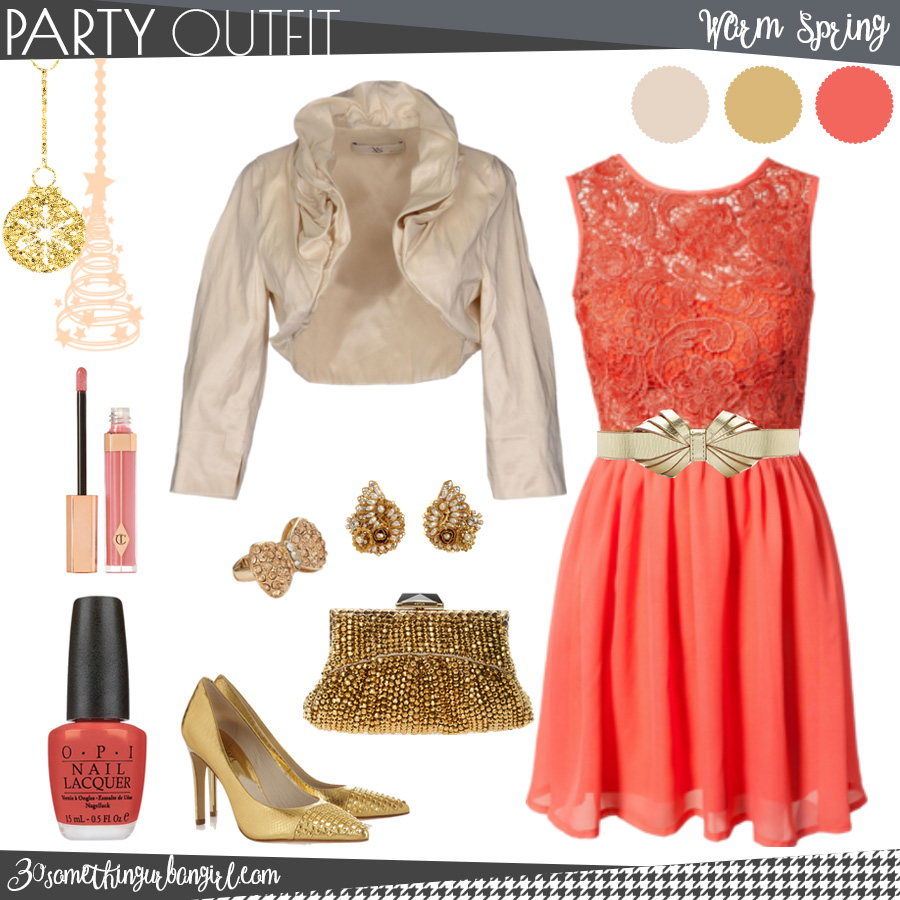 chic christmas party outfit for warm spring seasonal color women