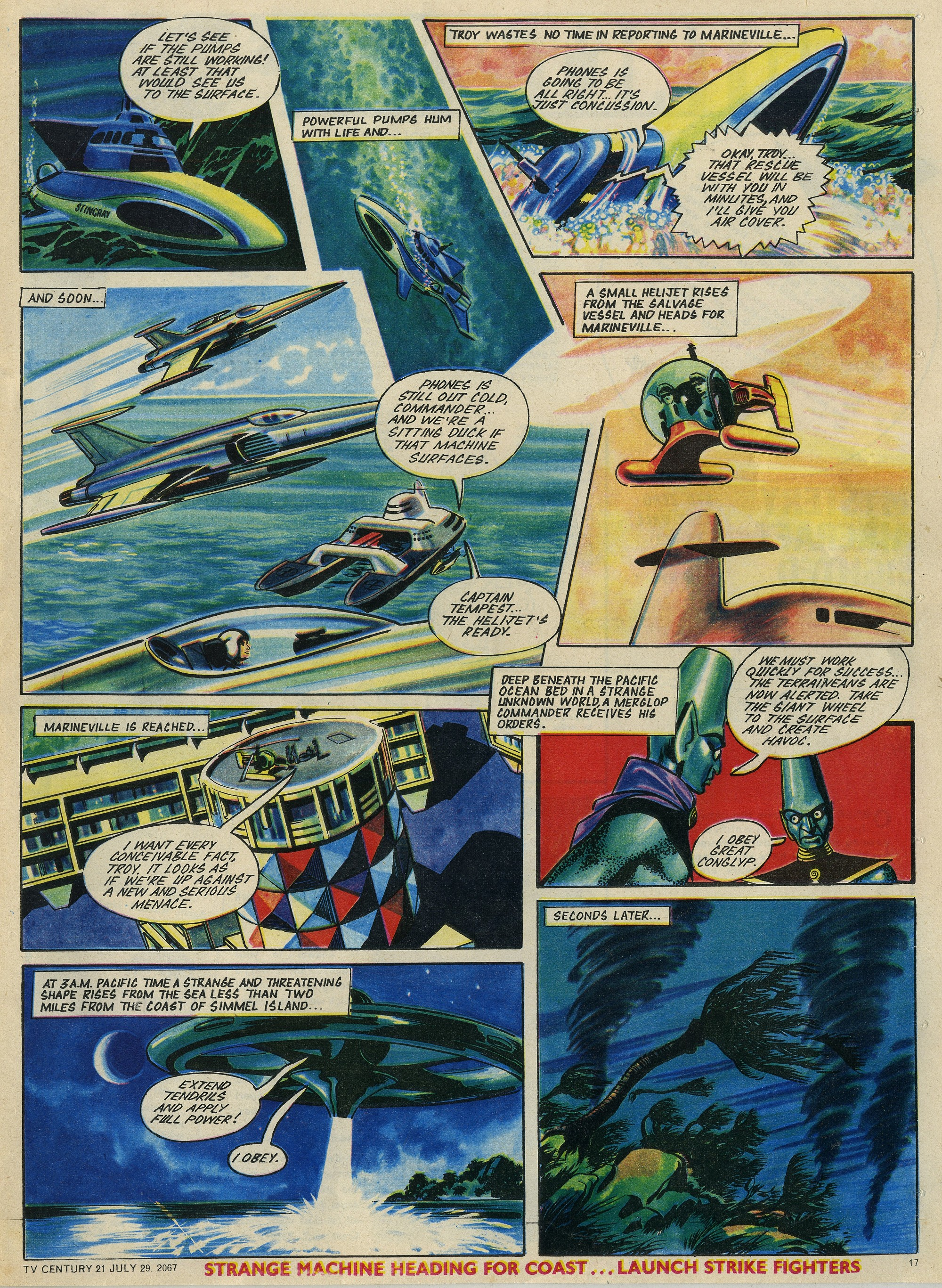 Read online TV Century 21 (TV 21) comic -  Issue #132 - 16