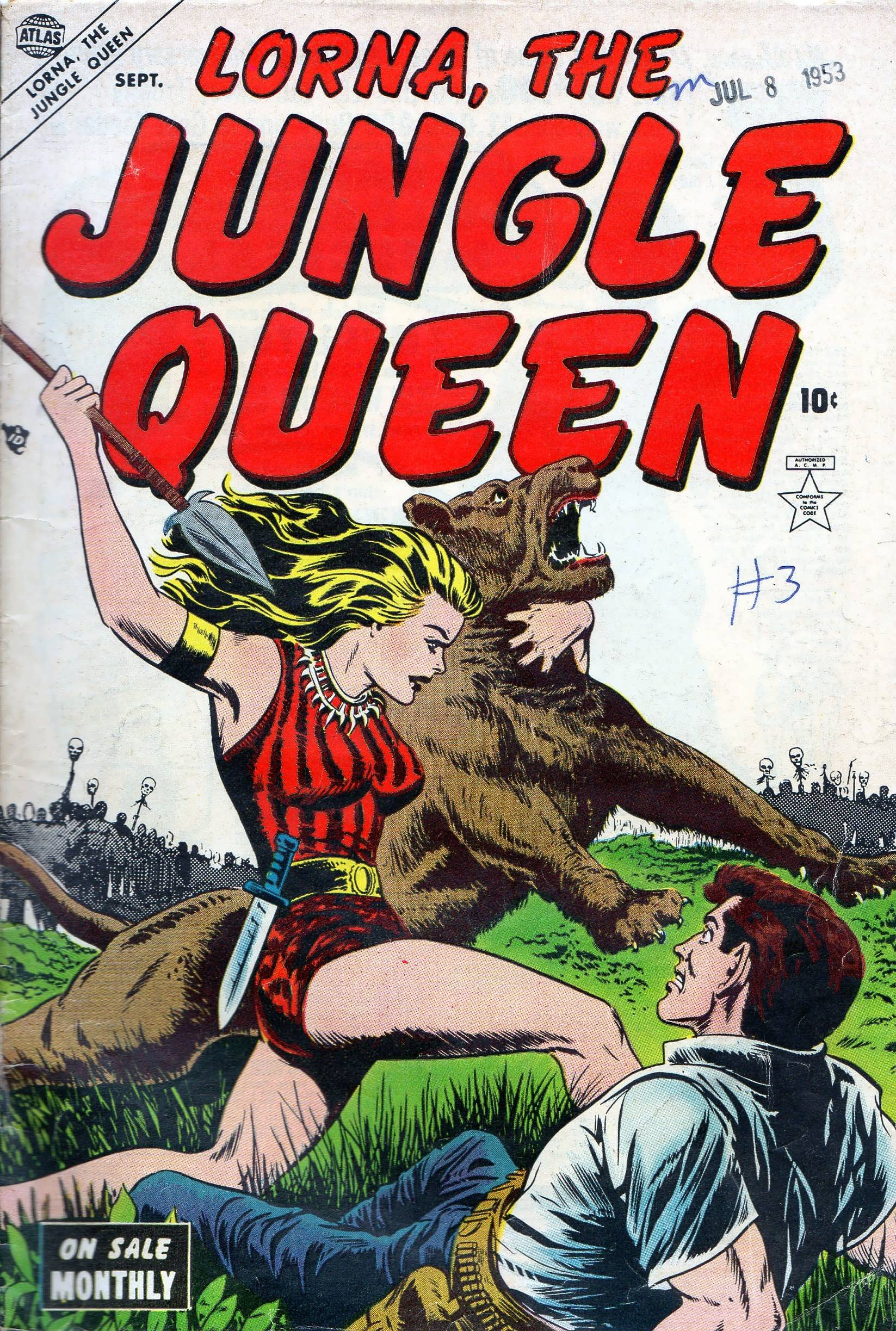 Read online Lorna, The Jungle Queen comic -  Issue #3 - 1