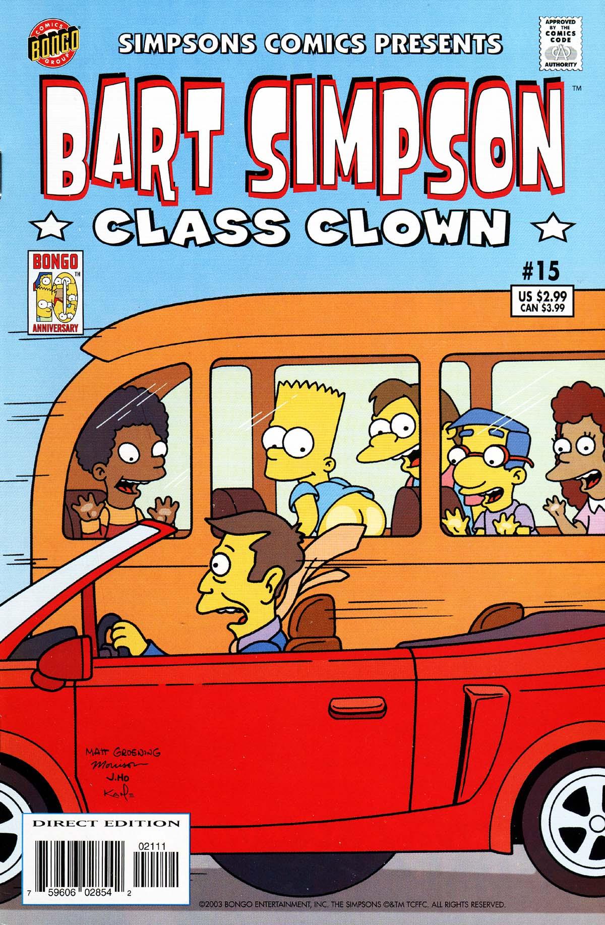 Read online Simpsons Comics Presents Bart Simpson comic -  Issue #15 - 1