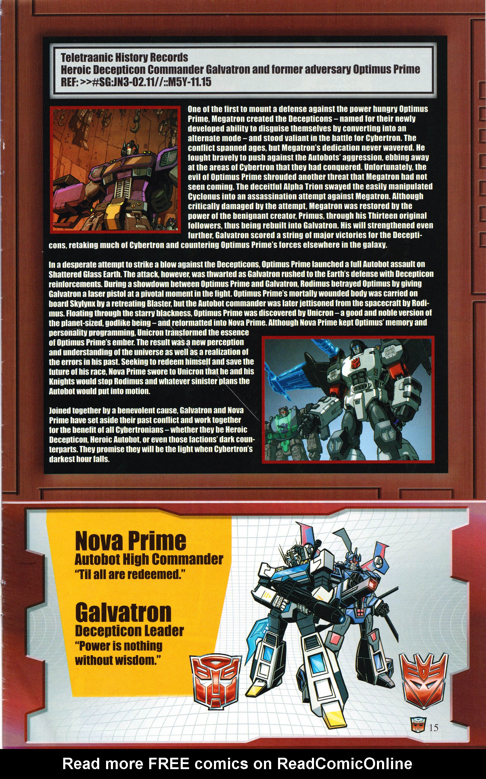 Read online Transformers: Collectors' Club comic -  Issue #66 - 15