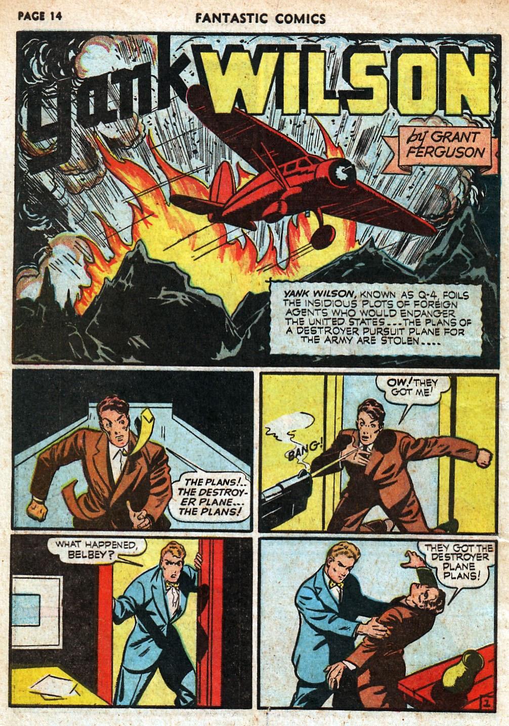 Read online Fantastic Comics comic -  Issue #18 - 16