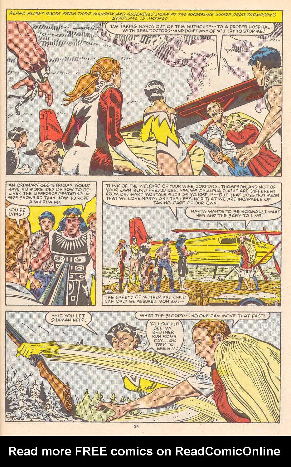 Read online Alpha Flight (1983) comic -  Issue #36 - 23