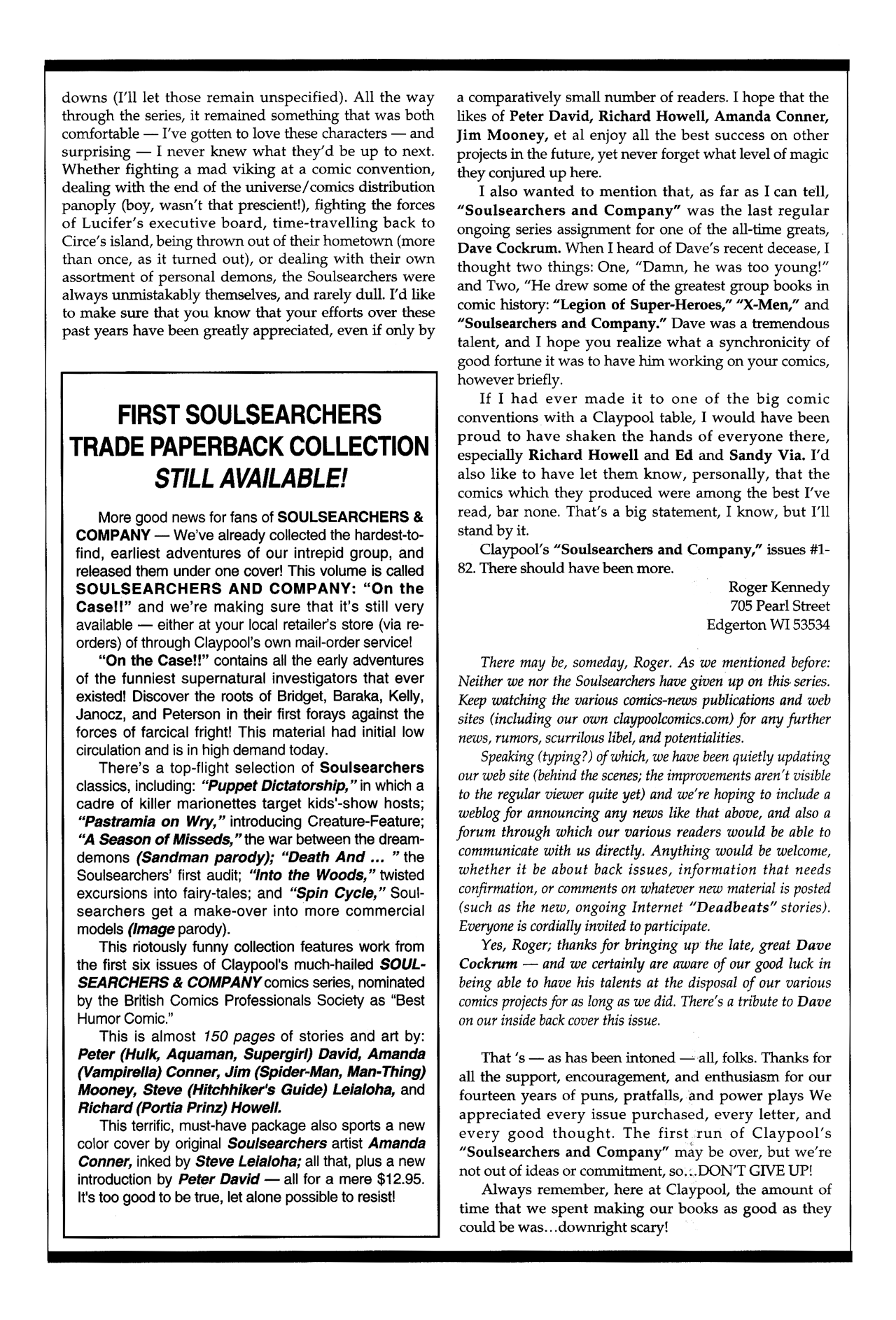 Soulsearchers and Company issue 82 - Page 32