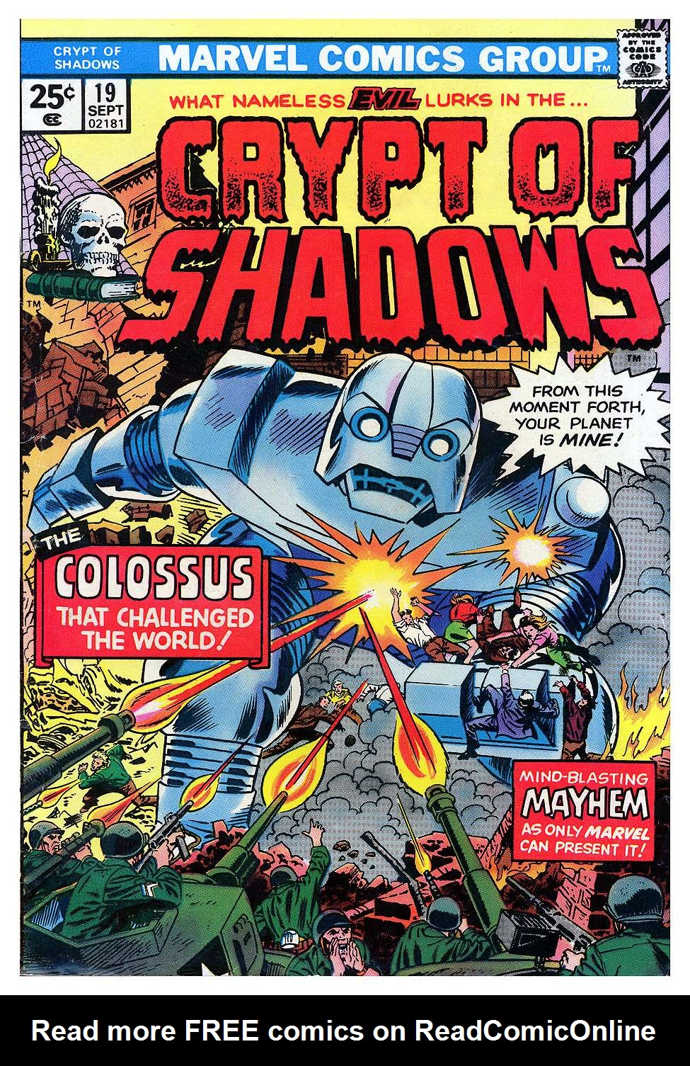 Read online Crypt of Shadows comic -  Issue #19 - 1