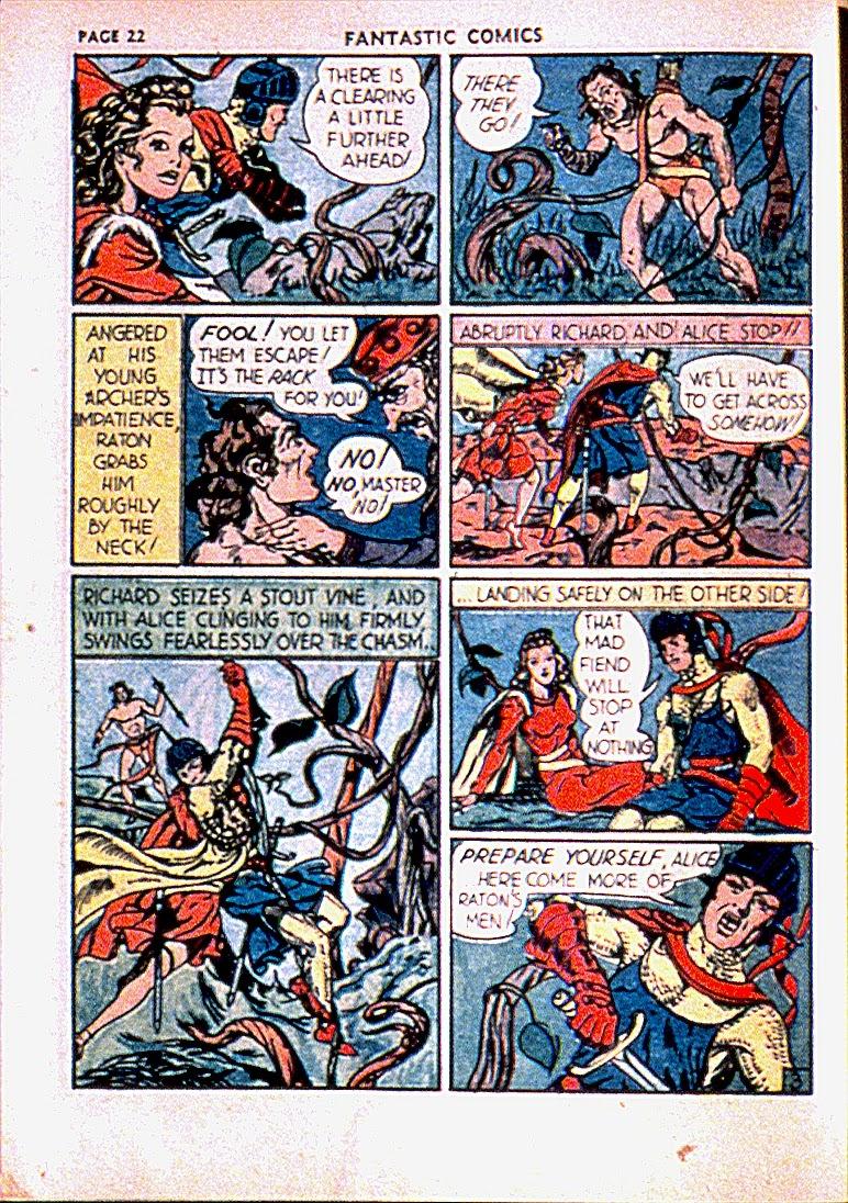 Read online Fantastic Comics comic -  Issue #13 - 25