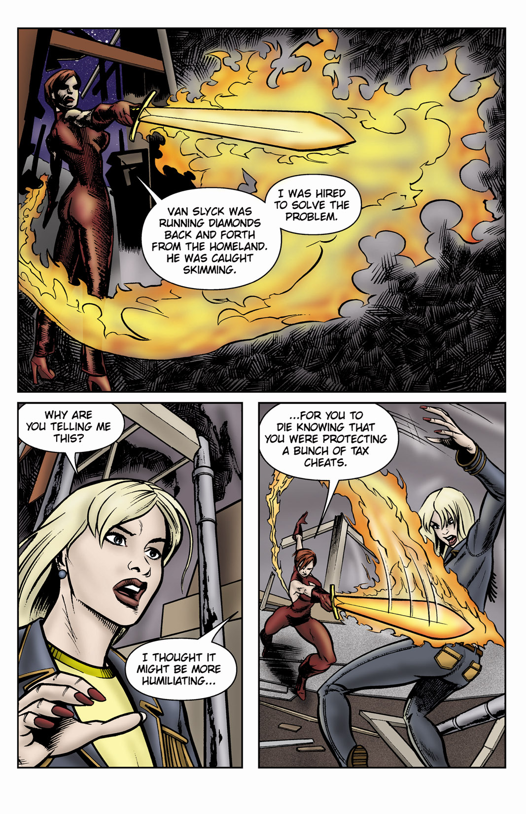 Read online SideChicks comic -  Issue #3 - 27