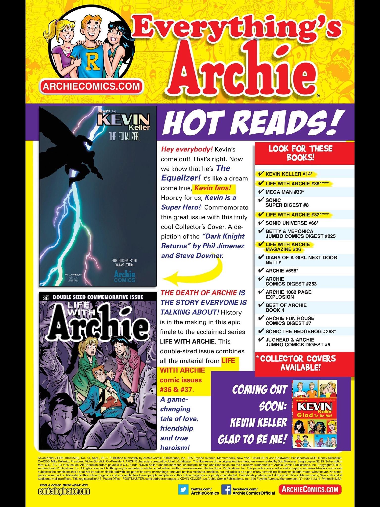 Read online Kevin Keller comic -  Issue #14 - 24