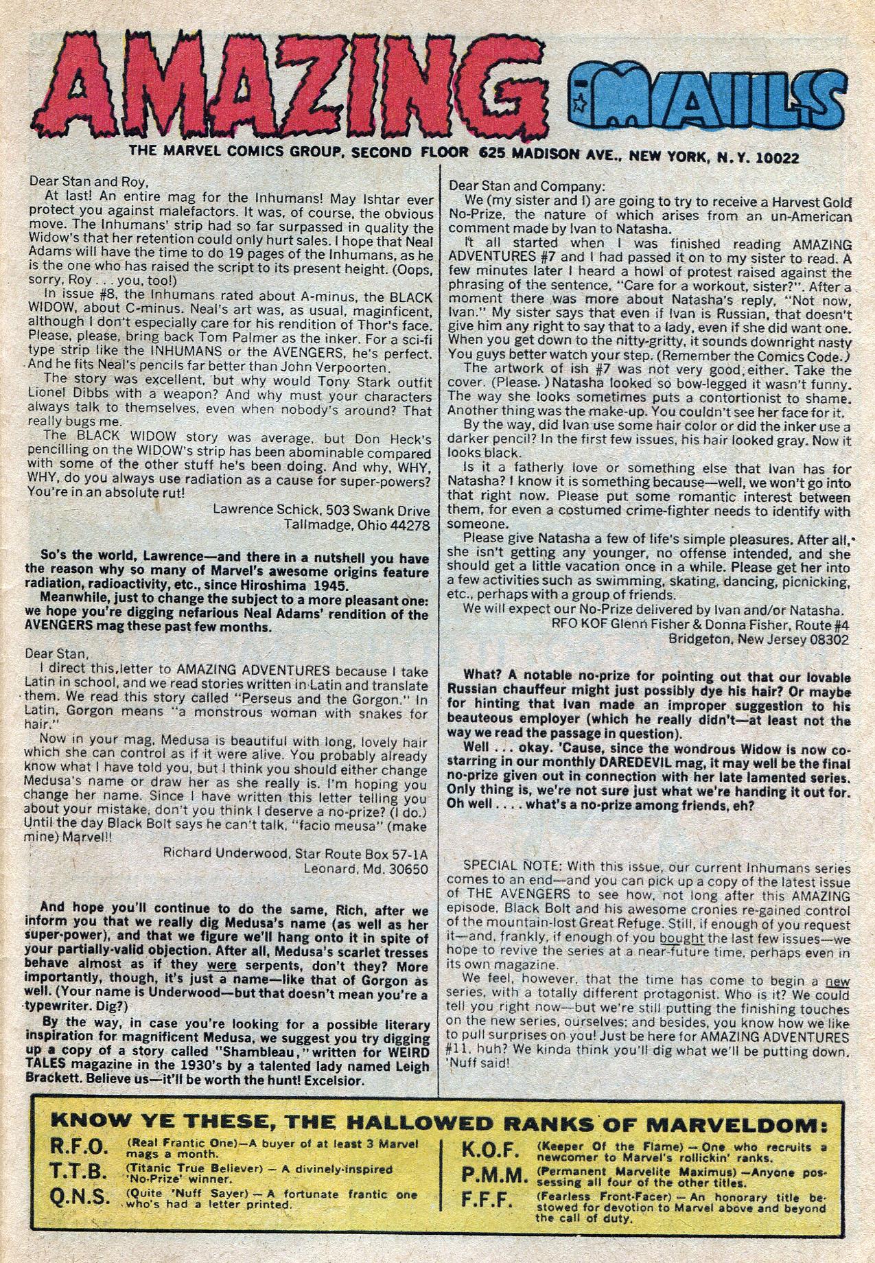 Read online Amazing Adventures (1970) comic -  Issue #10 - 33