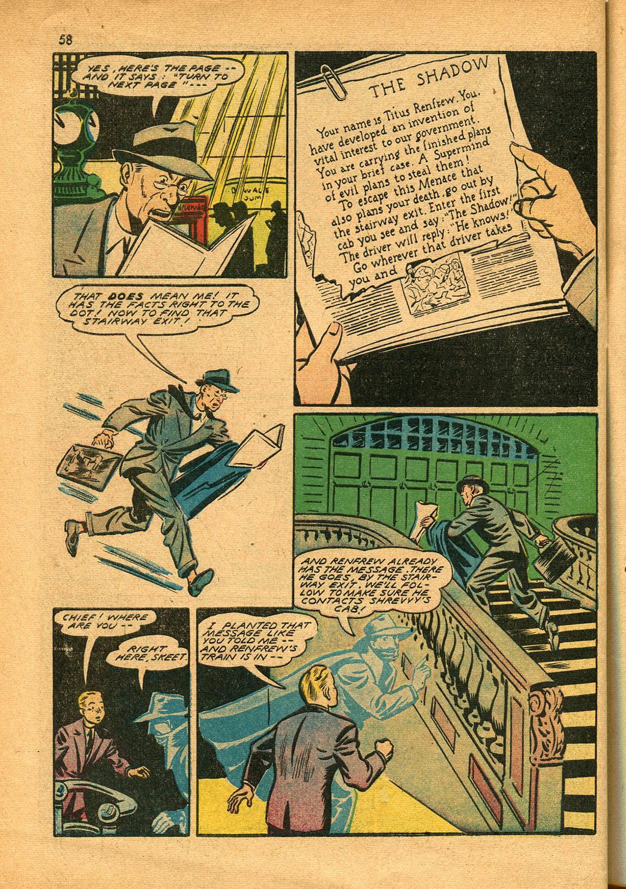 Read online Shadow Comics comic -  Issue #23 - 58