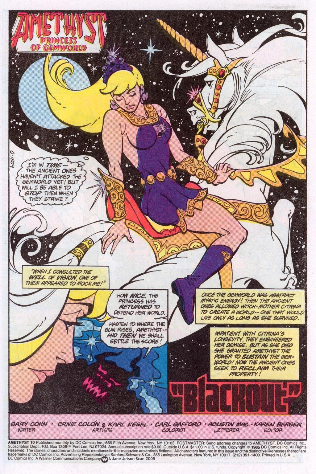Read online Amethyst (1985) comic -  Issue #10 - 3