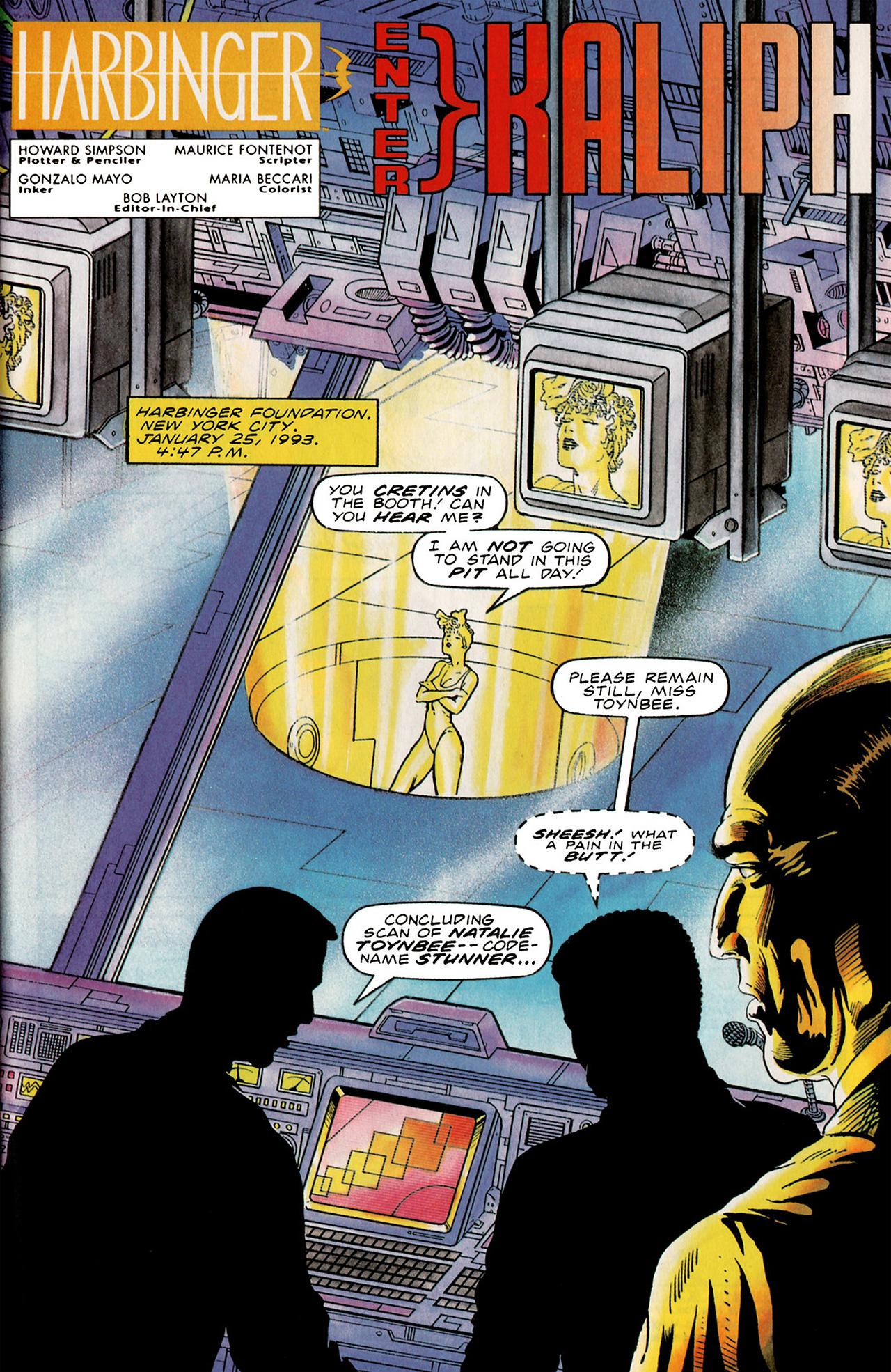 Read online Harbinger (1992) comic -  Issue #19 - 2
