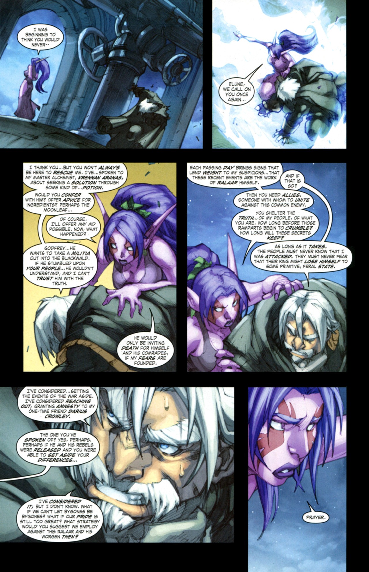 Read online World of Warcraft: Curse of the Worgen comic -  Issue #3 - 17