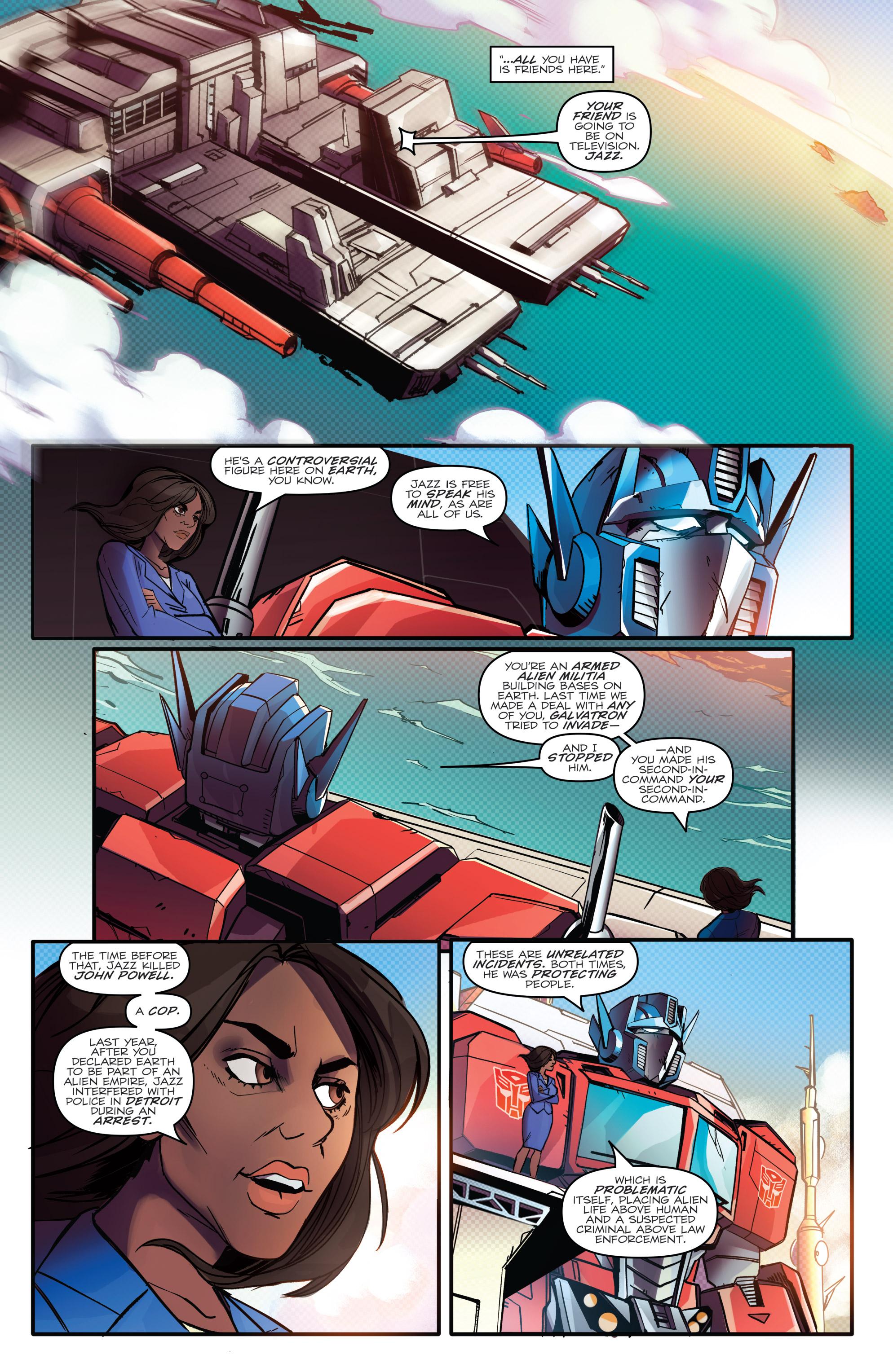 Read online Optimus Prime comic -  Issue #7 - 12