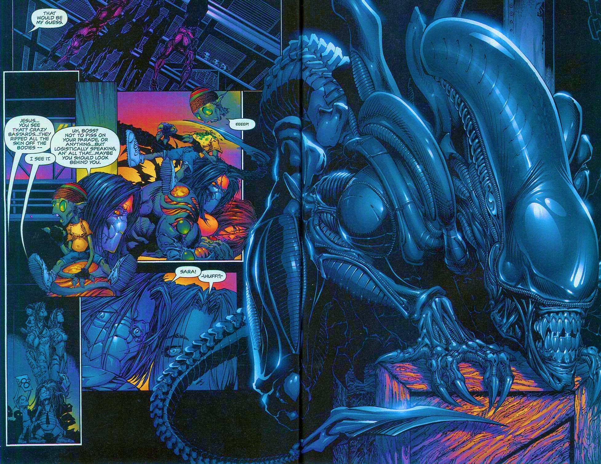 Read online Overkill: Witchblade/Aliens/Darkness/Predator comic -  Issue #1 - 35