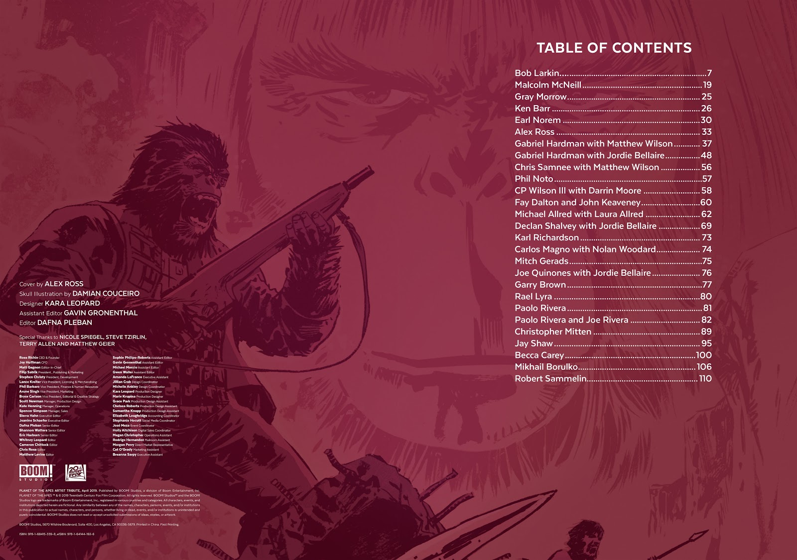 Read online Planet of the Apes Artist Tribute comic -  Issue # TPB - 5