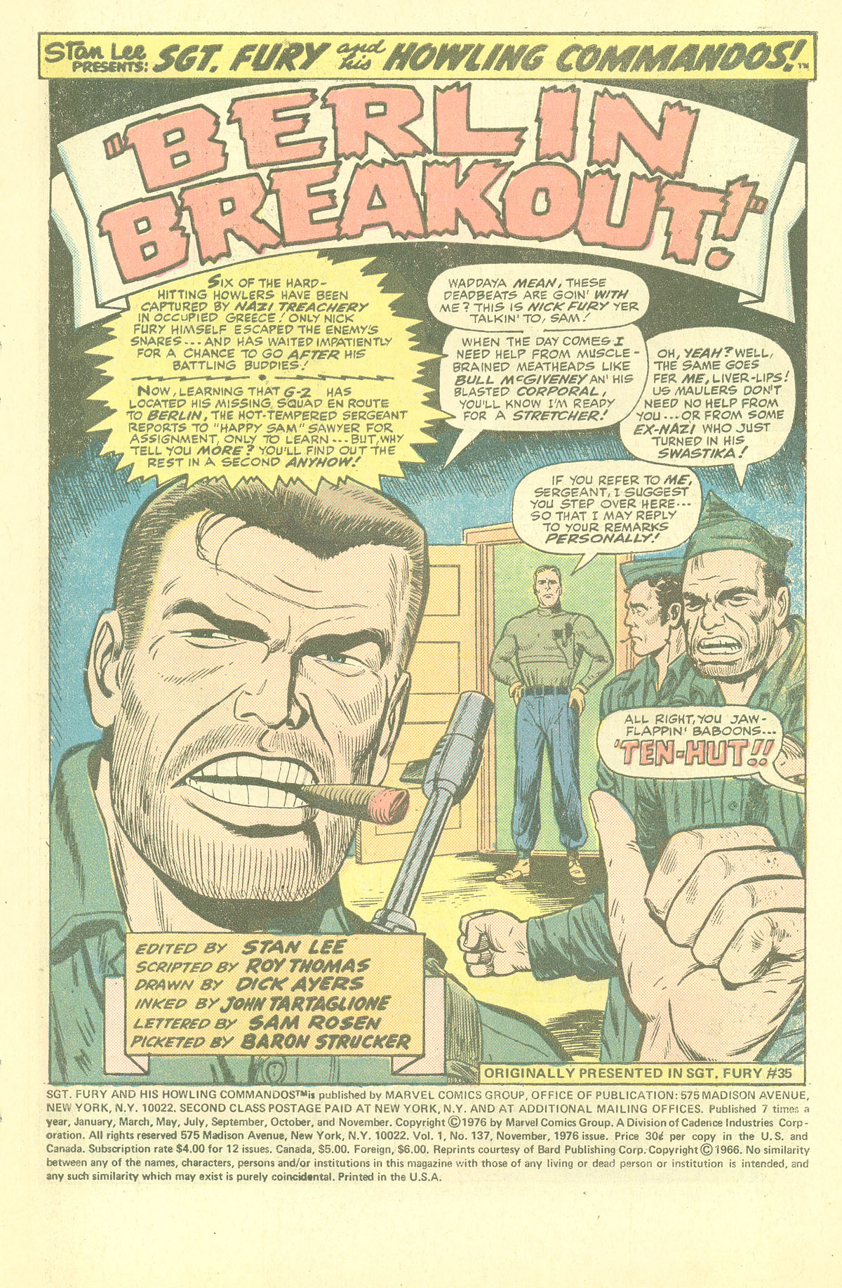 Read online Sgt. Fury comic -  Issue #137 - 3