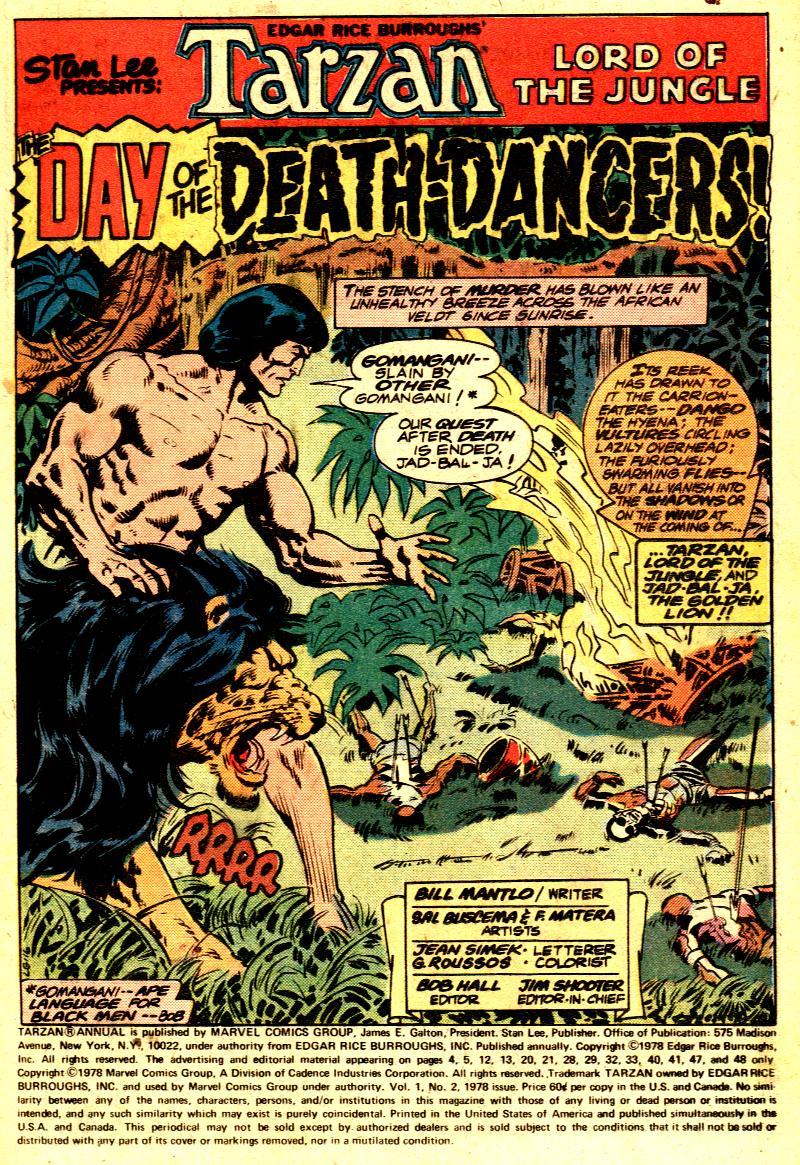 Read online Tarzan (1977) comic -  Issue # _Annual 2 - 2