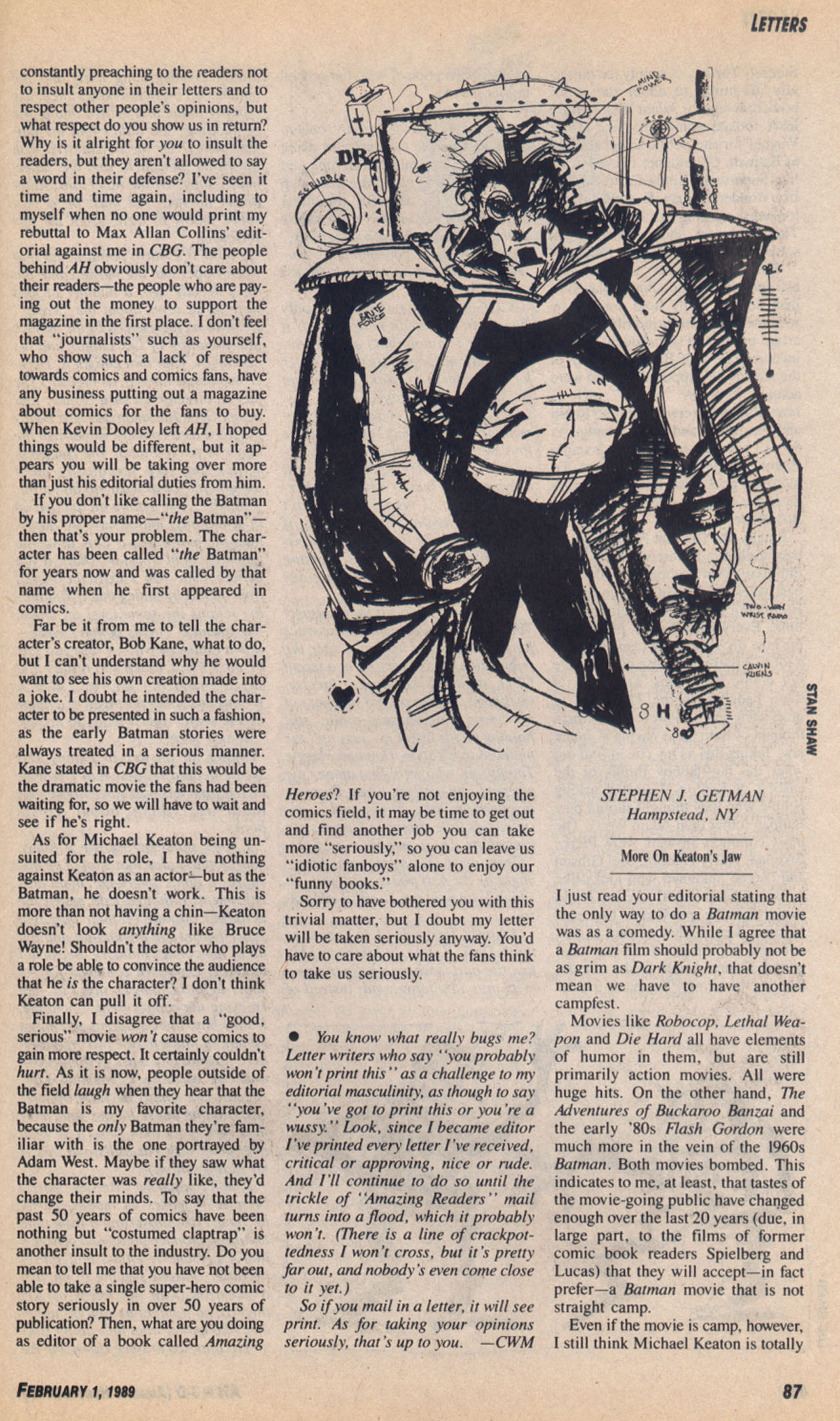 Read online Amazing Heroes comic -  Issue #158 - 88