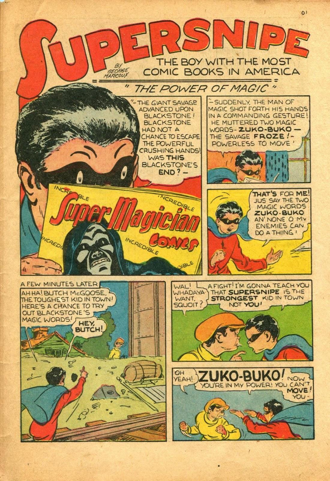 Read online Super-Magician Comics comic -  Issue #11 - 61