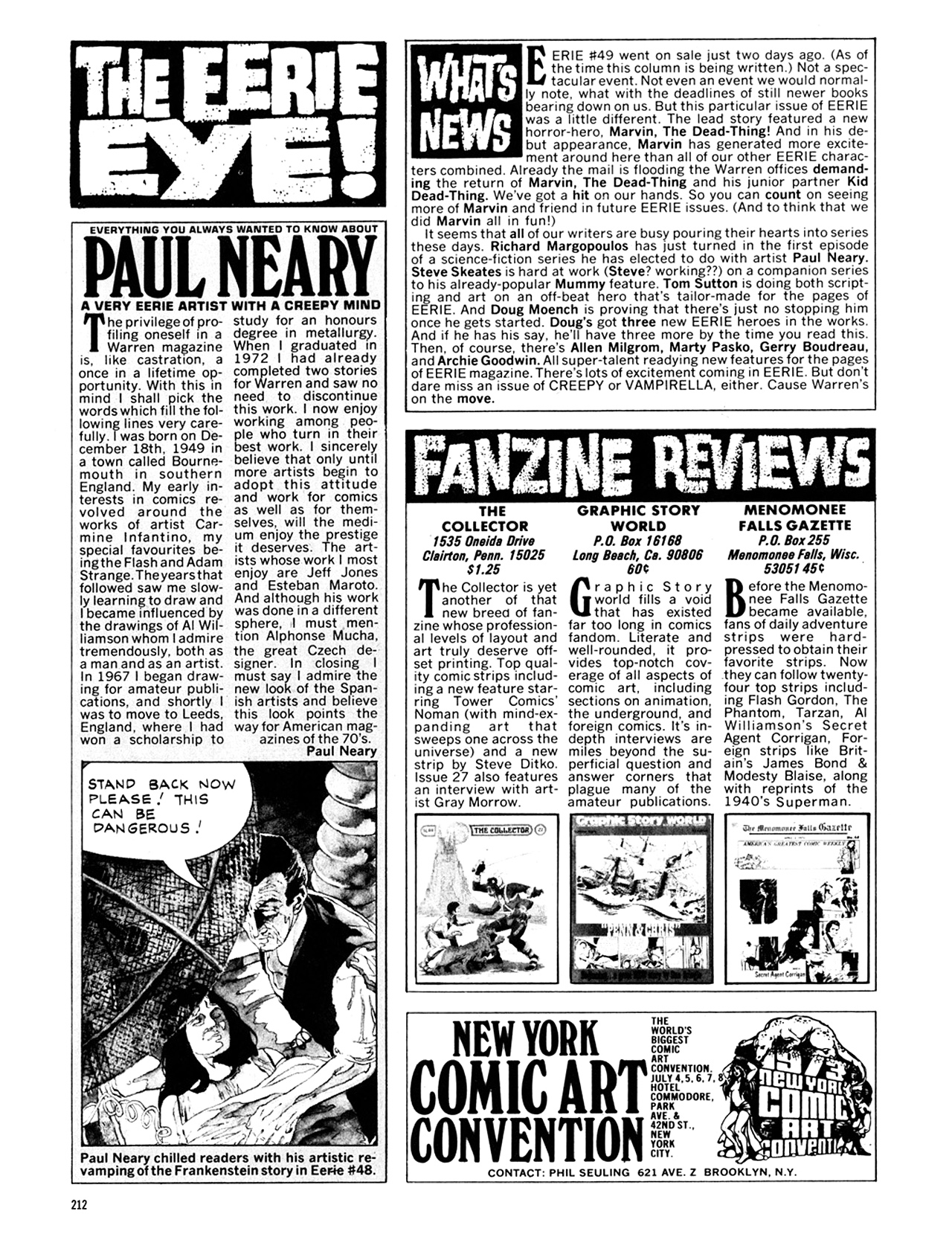 Read online Eerie Archives comic -  Issue # TPB 10 - 213