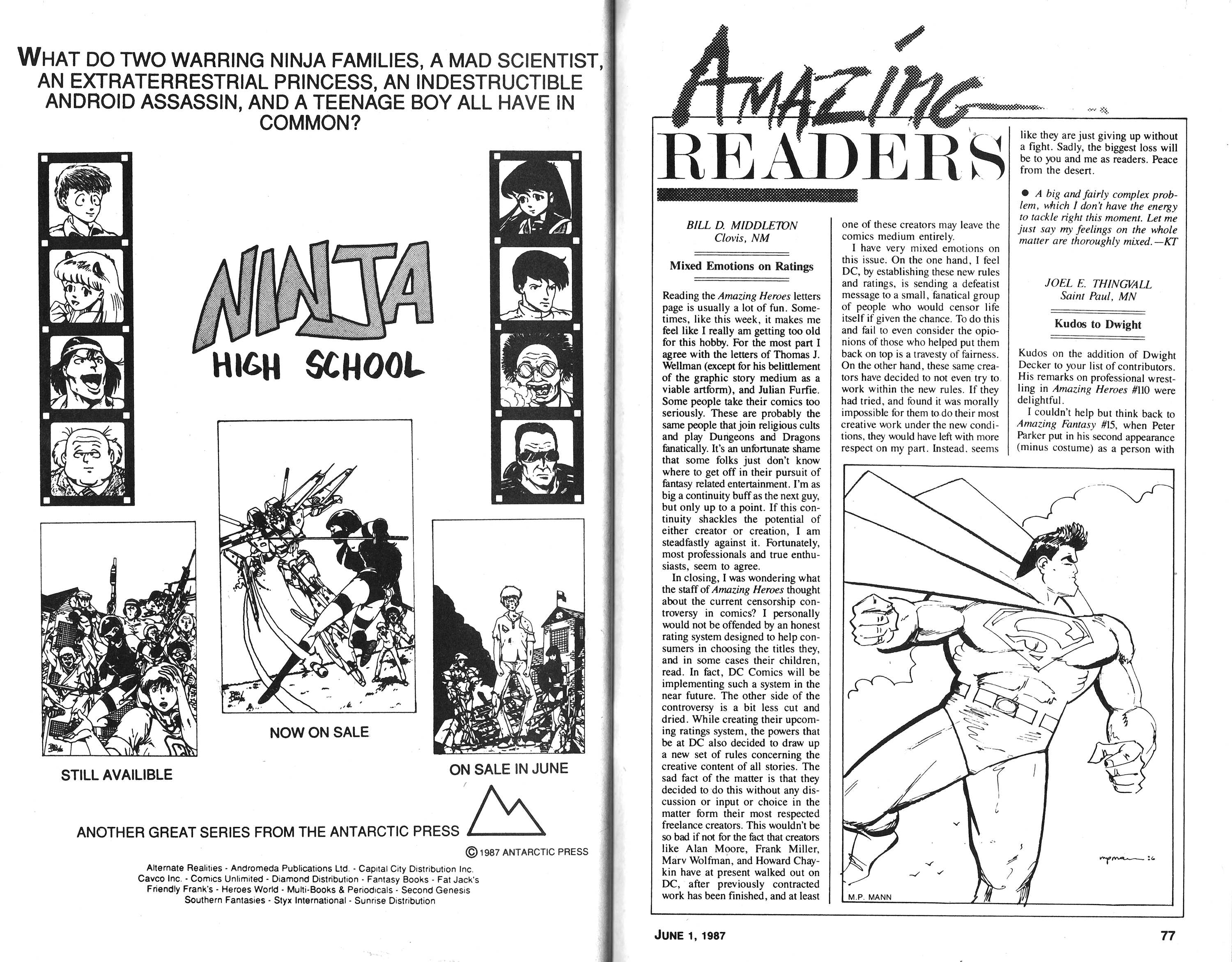 Read online Amazing Heroes comic -  Issue #118 - 38