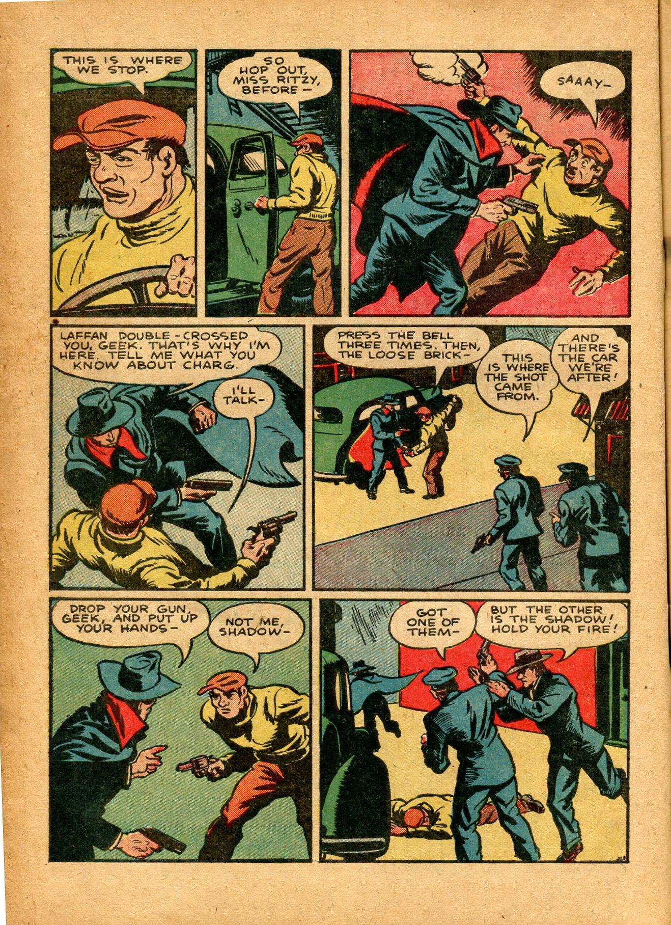 Read online Shadow Comics comic -  Issue #8 - 16