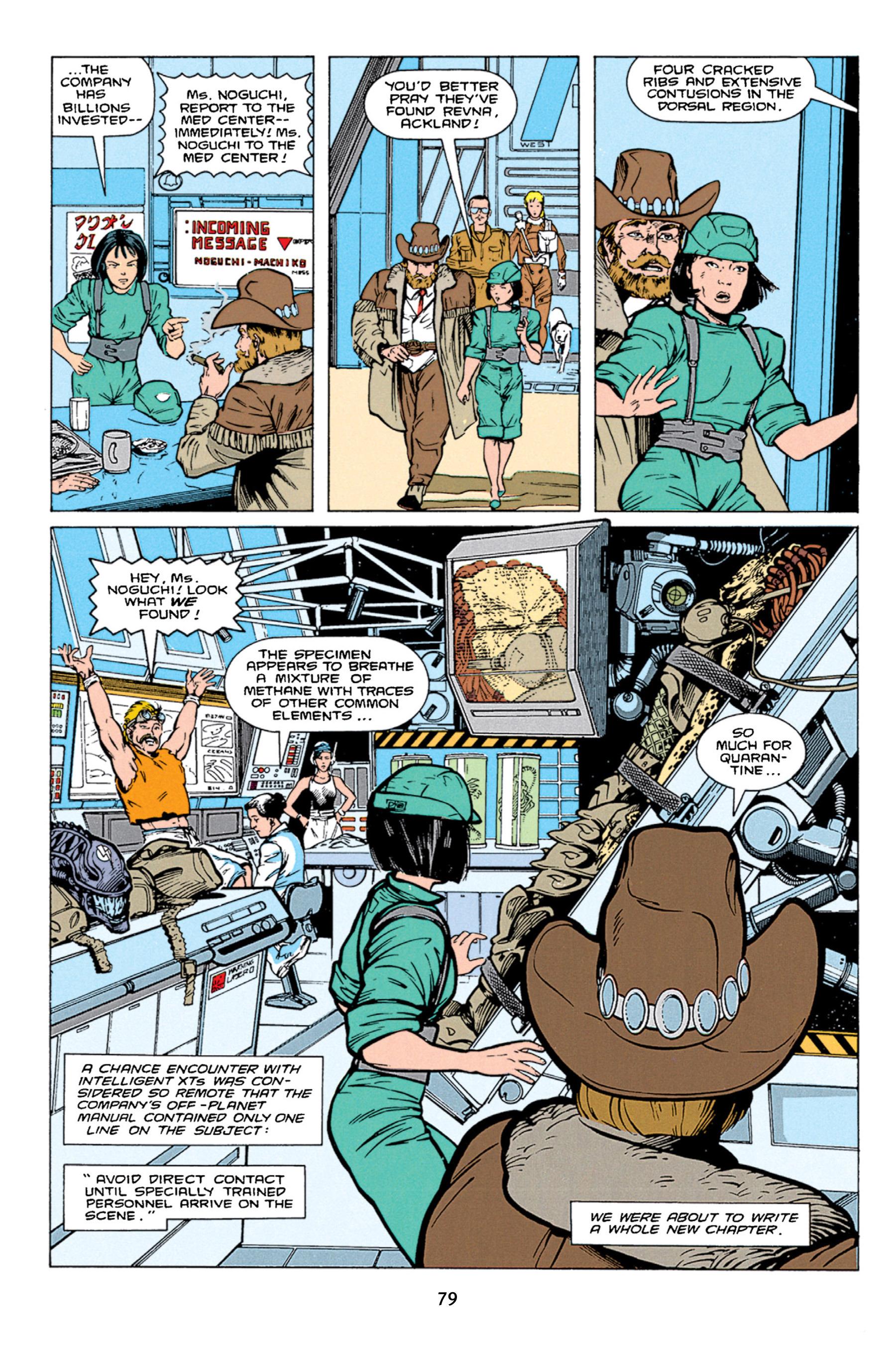 Read online Aliens vs. Predator Omnibus comic -  Issue # _TPB 1 Part 1 - 79