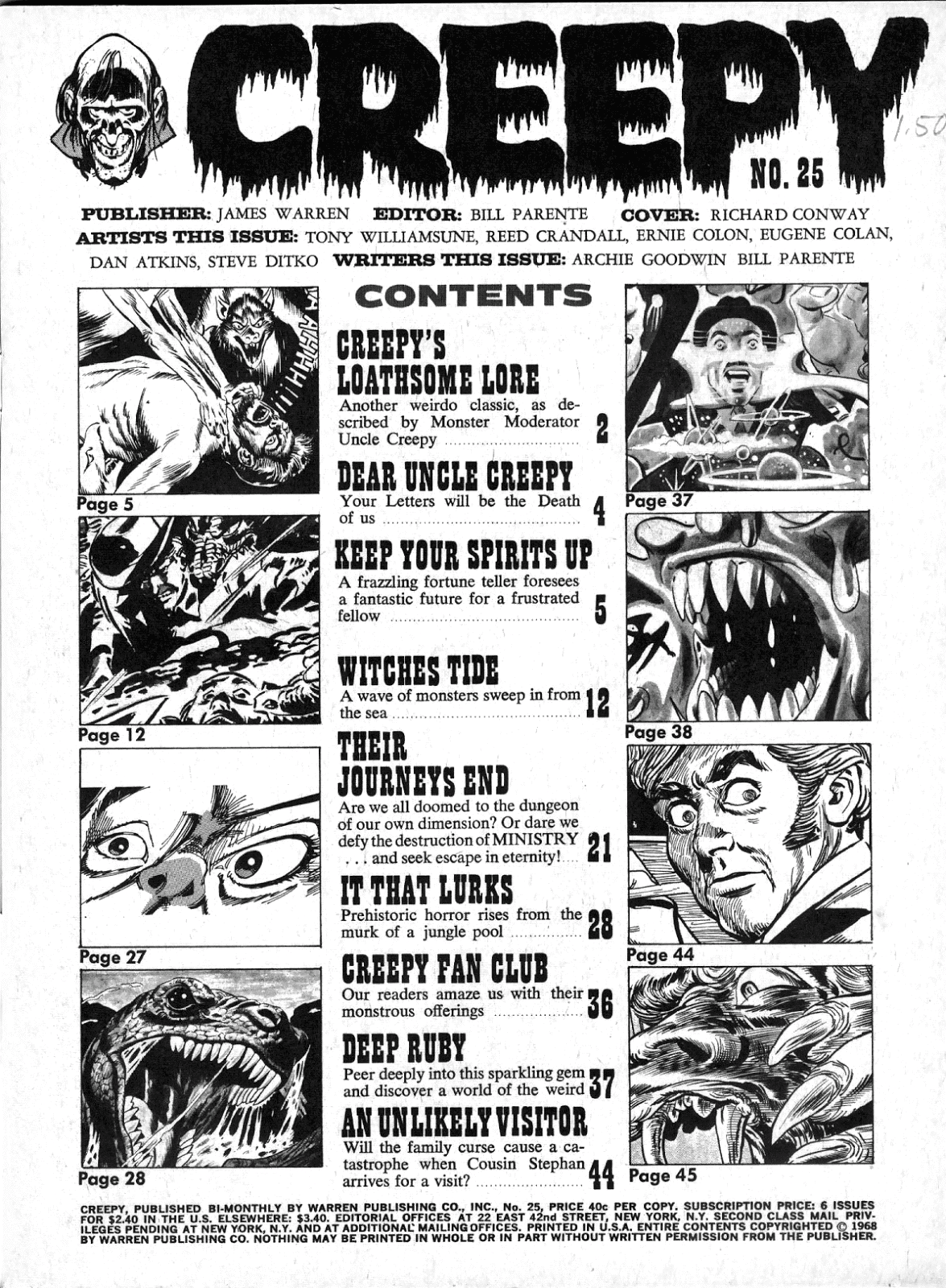 Creepy (1964) Issue #25 #25 - English 3