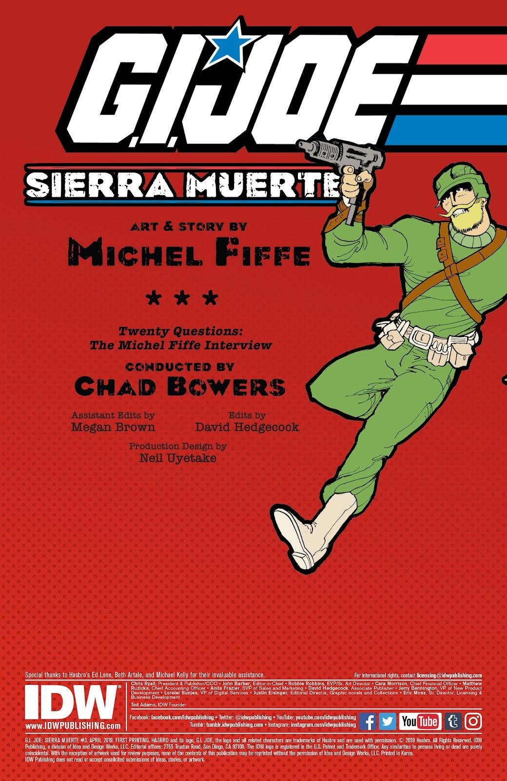 Read online G.I. Joe: Sierra Muerte comic -  Issue #3 - 2