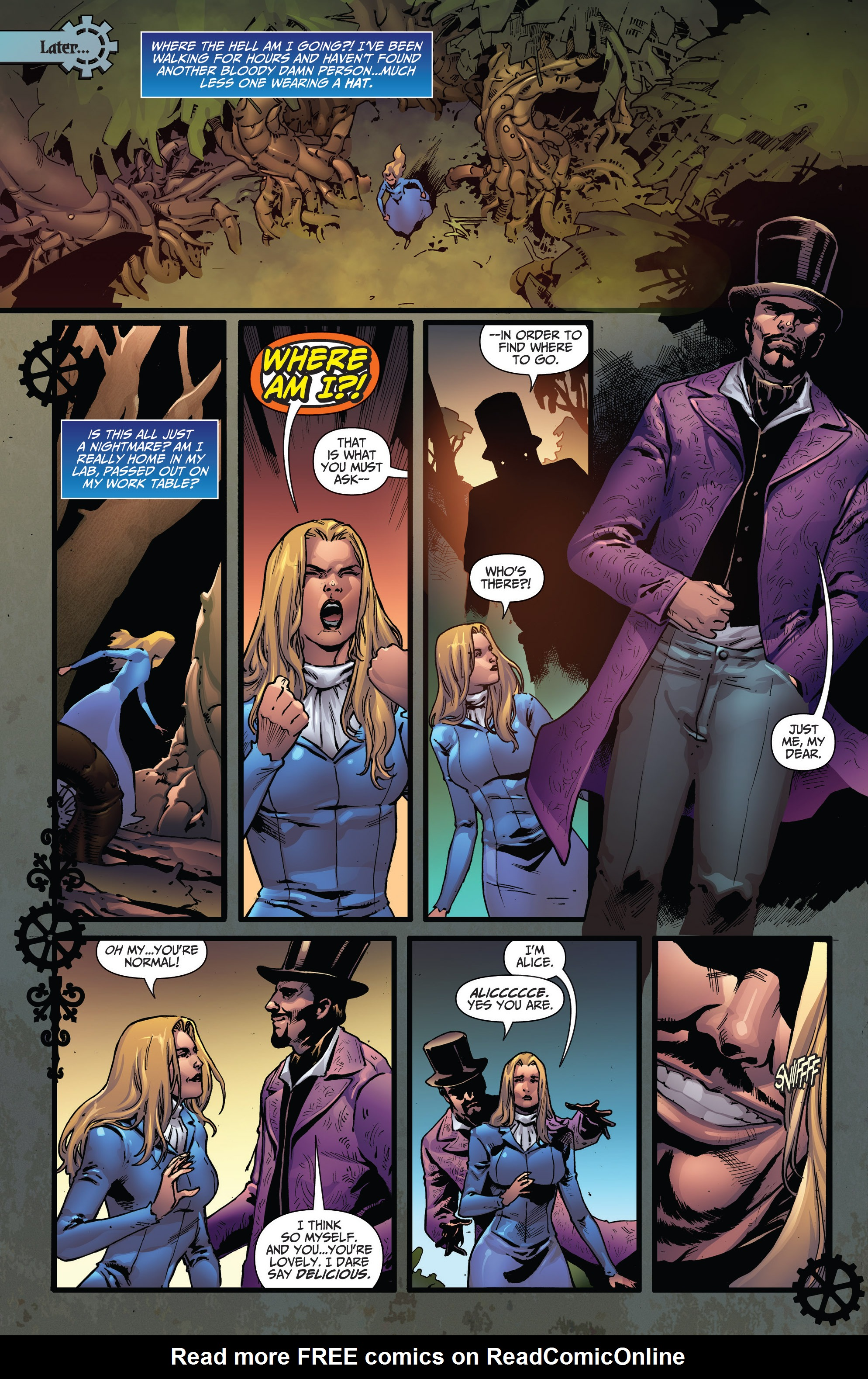 Read online Steampunk: Alice in Wonderland comic -  Issue # Full - 16