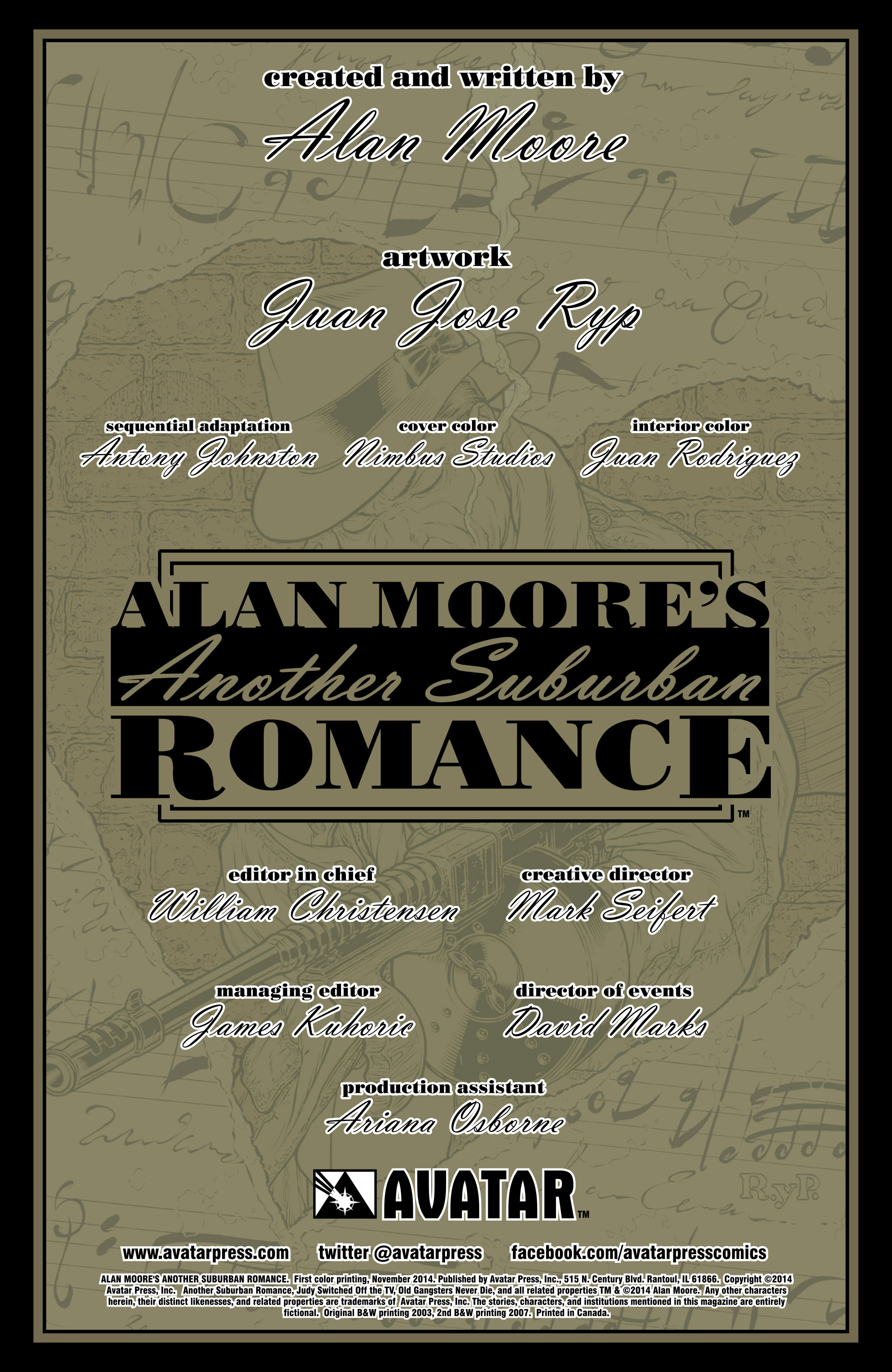 Read online Alan Moore's Another Suburban Romance comic -  Issue #Alan Moore's Another Suburban Romance Full - 3