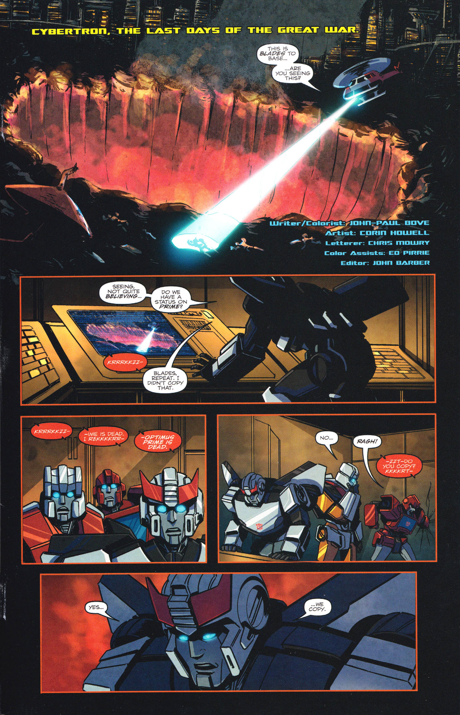 Read online Transformers: Dawn of the Predacus comic -  Issue # Full - 2