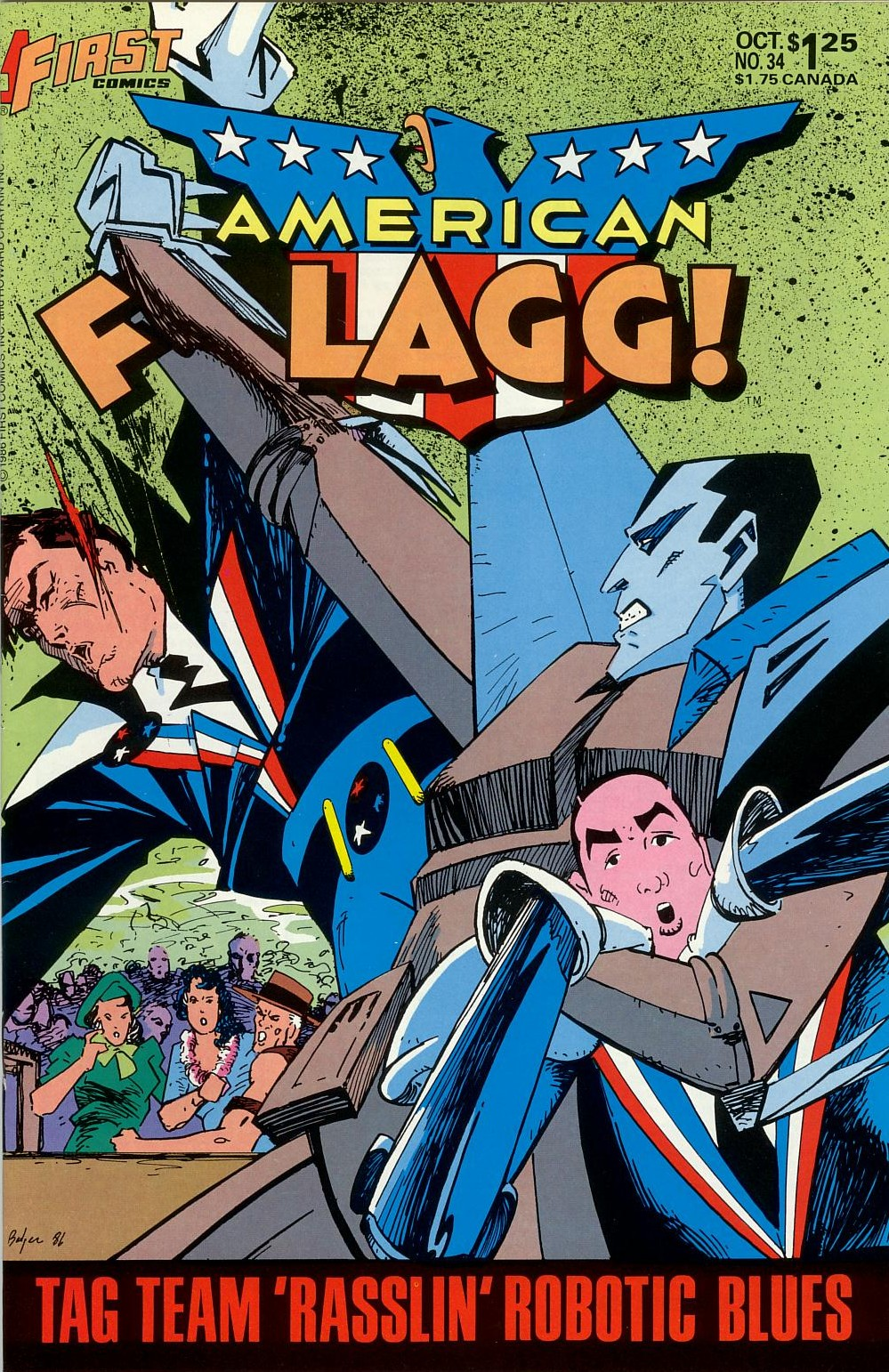 Read online American Flagg! comic -  Issue #34 - 1