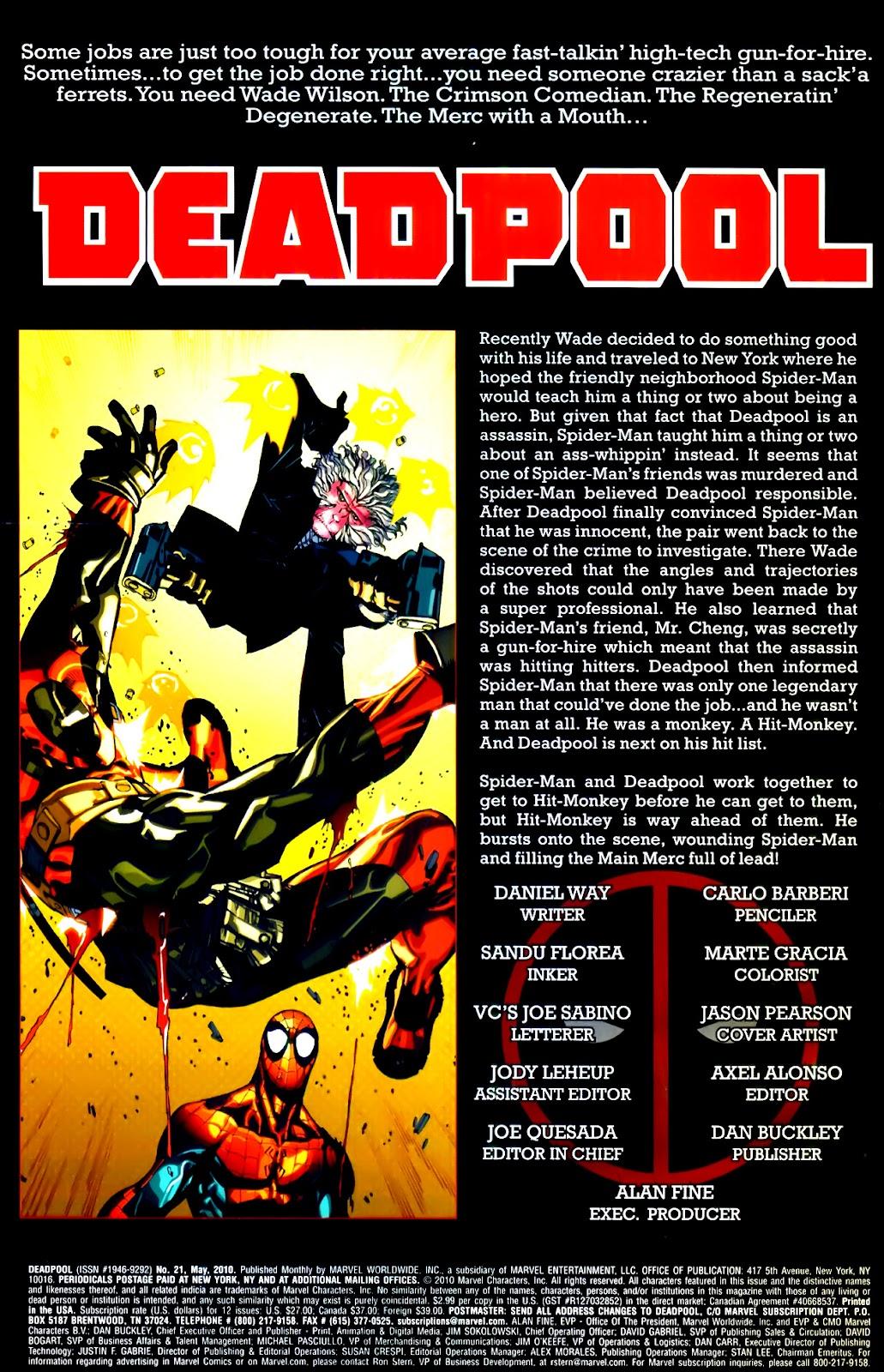 Read online Deadpool (2008) comic -  Issue #21 - 2