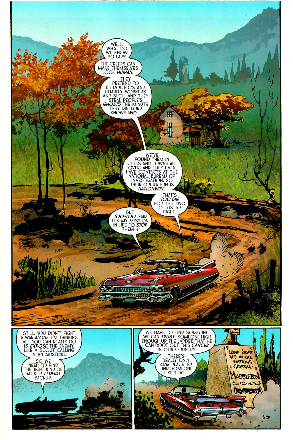 Read online Route 666 comic -  Issue #15 - 16