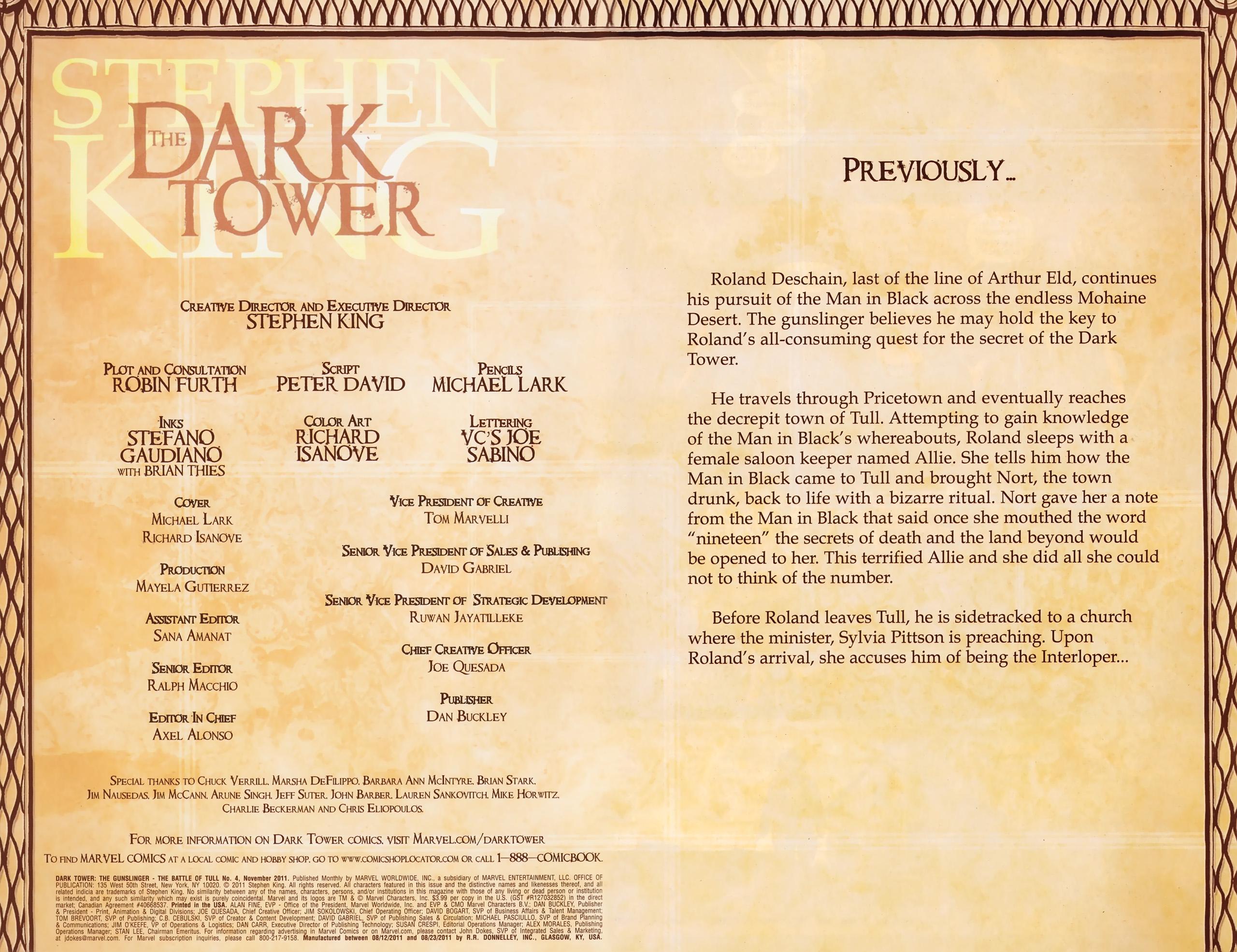 Read online Dark Tower: The Gunslinger - The Battle of Tull comic -  Issue #4 - 2