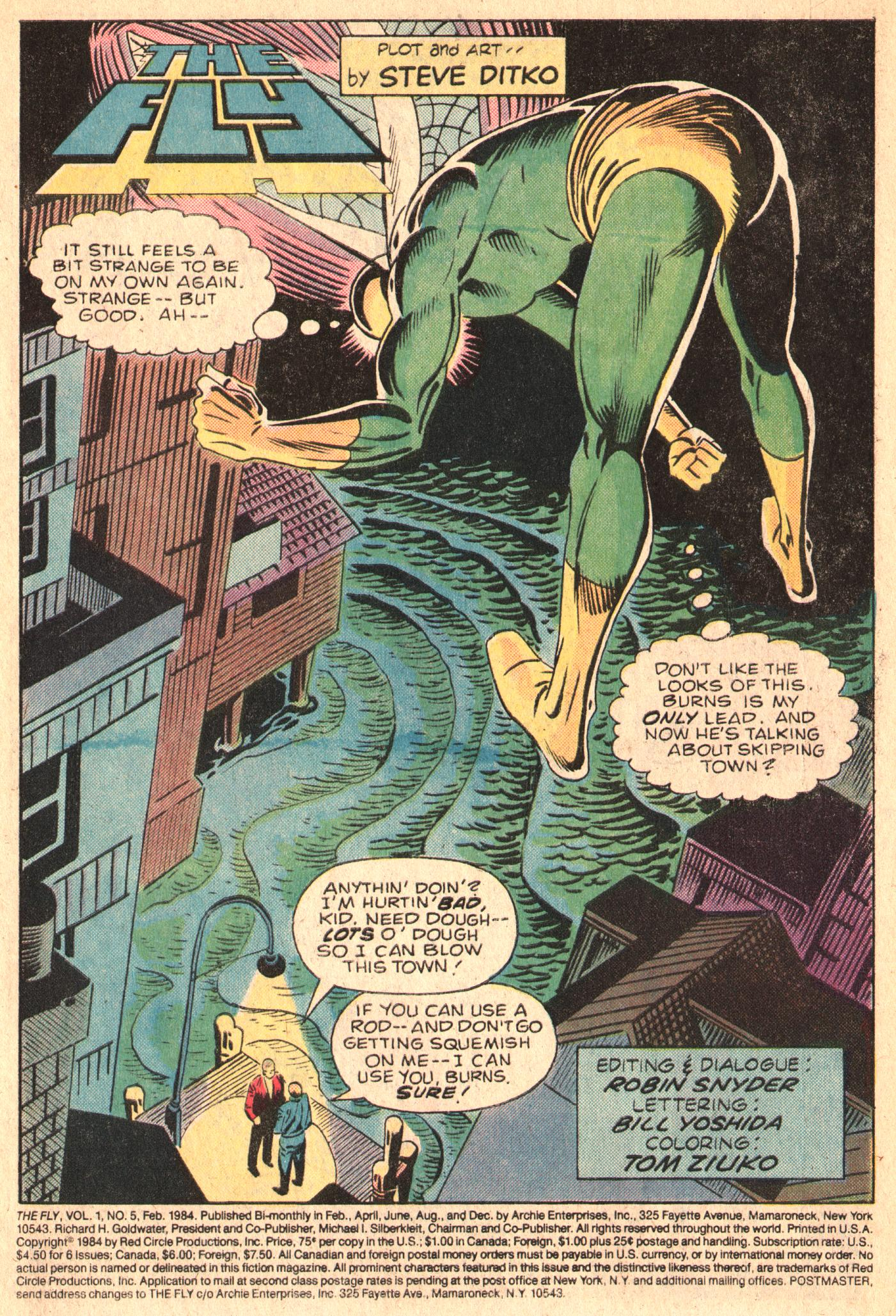 Read online The Fly (1983) comic -  Issue #5 - 3